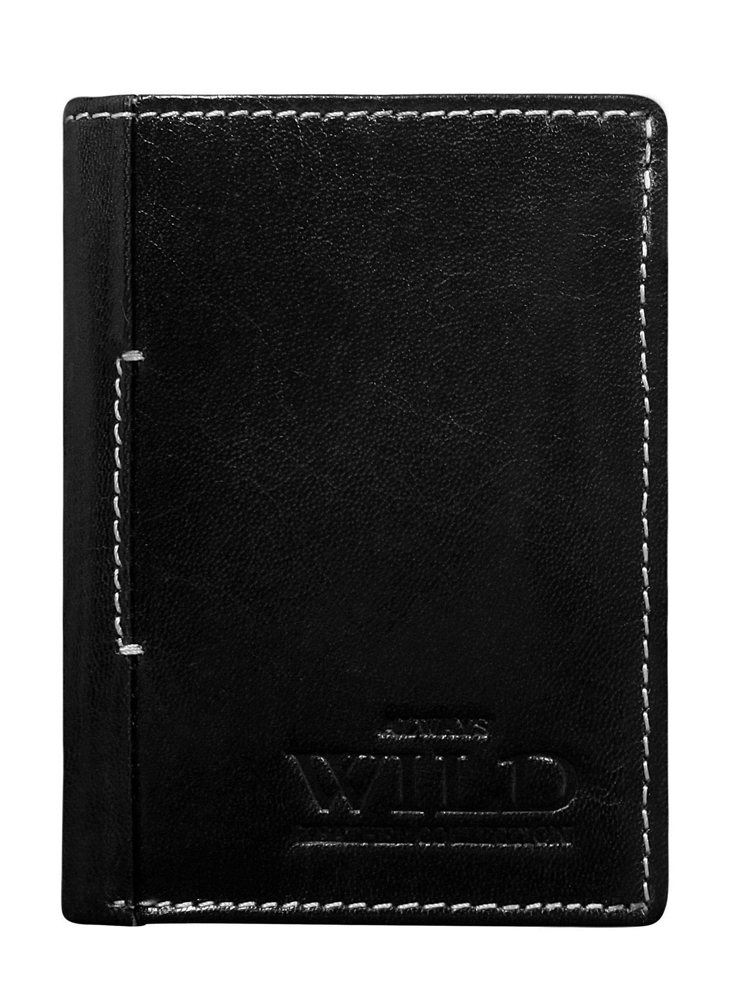 Pánska malá čierna kožená peňaženka univerzální