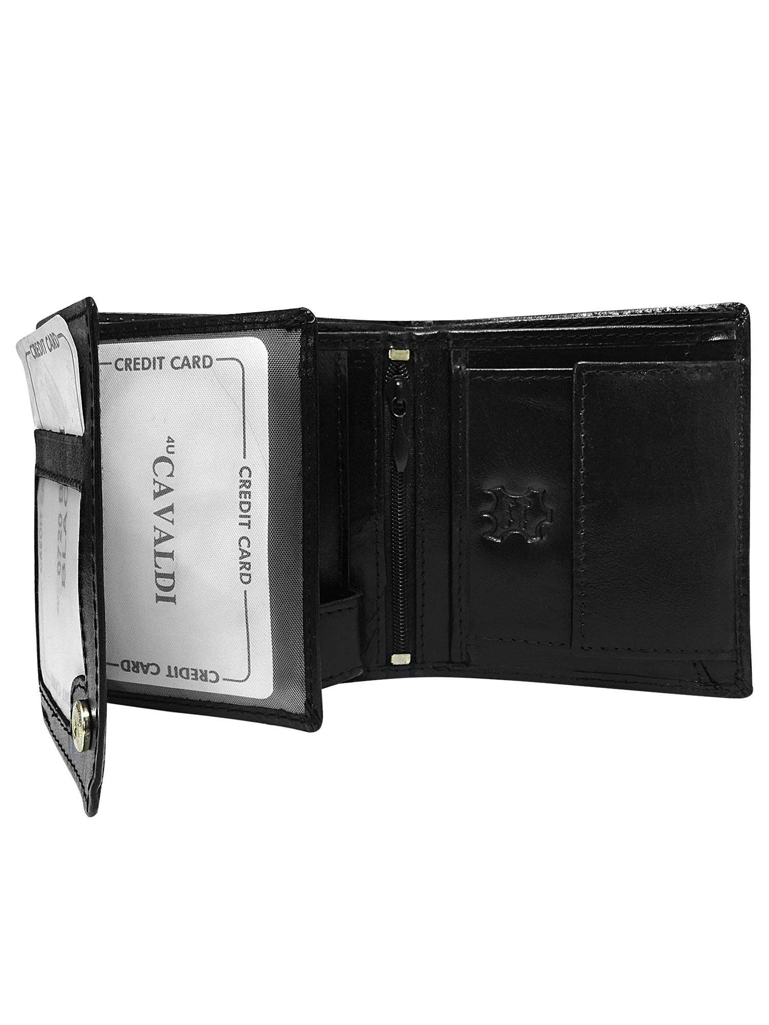 Malá čierna kožená pánska peňaženka univerzální