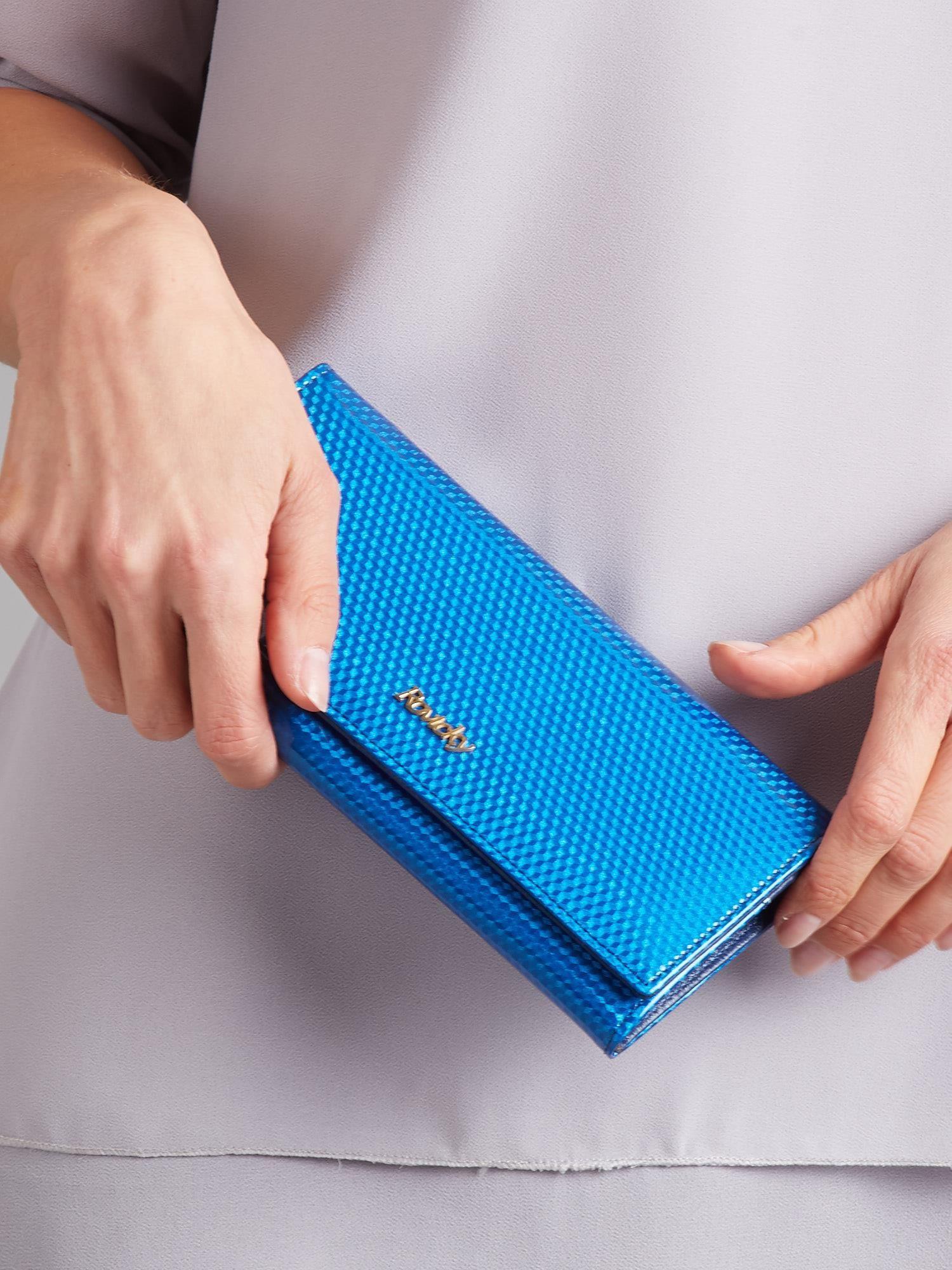 Lakovaná modrá peněženka ONE SIZE