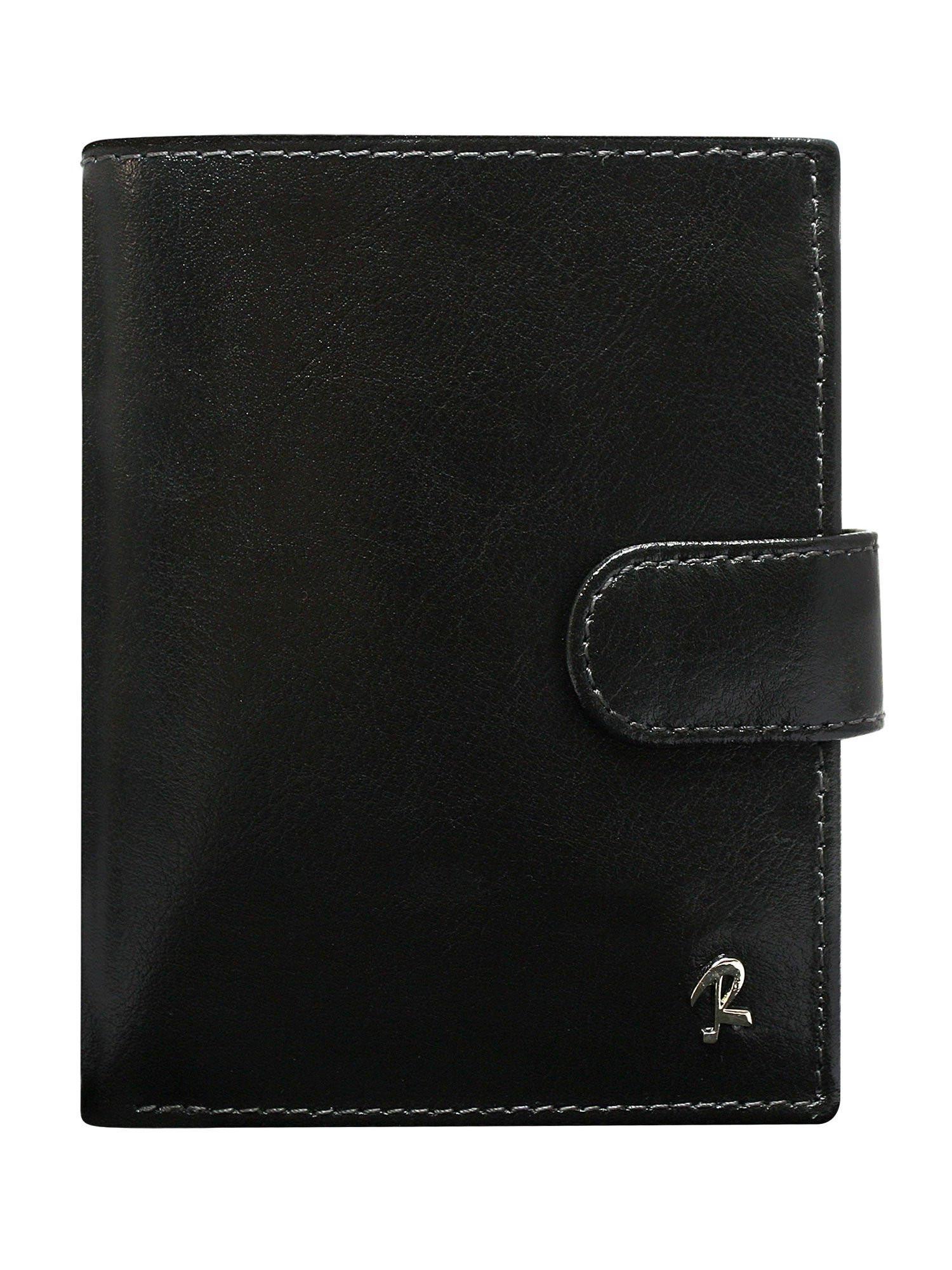 Pánska čierna peňaženka so zapínaním na patent jedna velikost