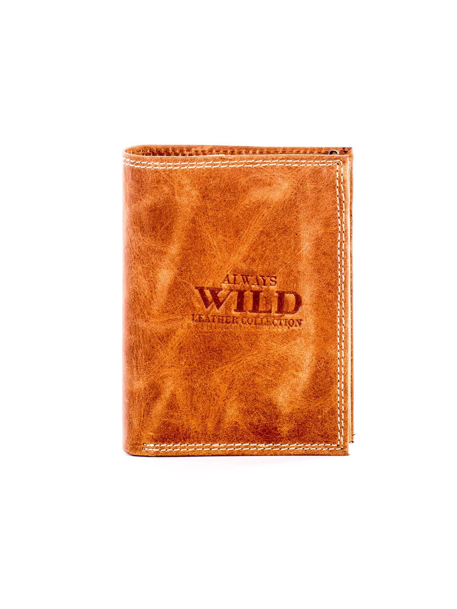 Svetlo hnedá tieňovaná peňaženka z prírodnej kože ONE SIZE