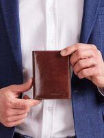 Pánska hnedá peňaženka bez zapínania z prírodnej kože ONE SIZE