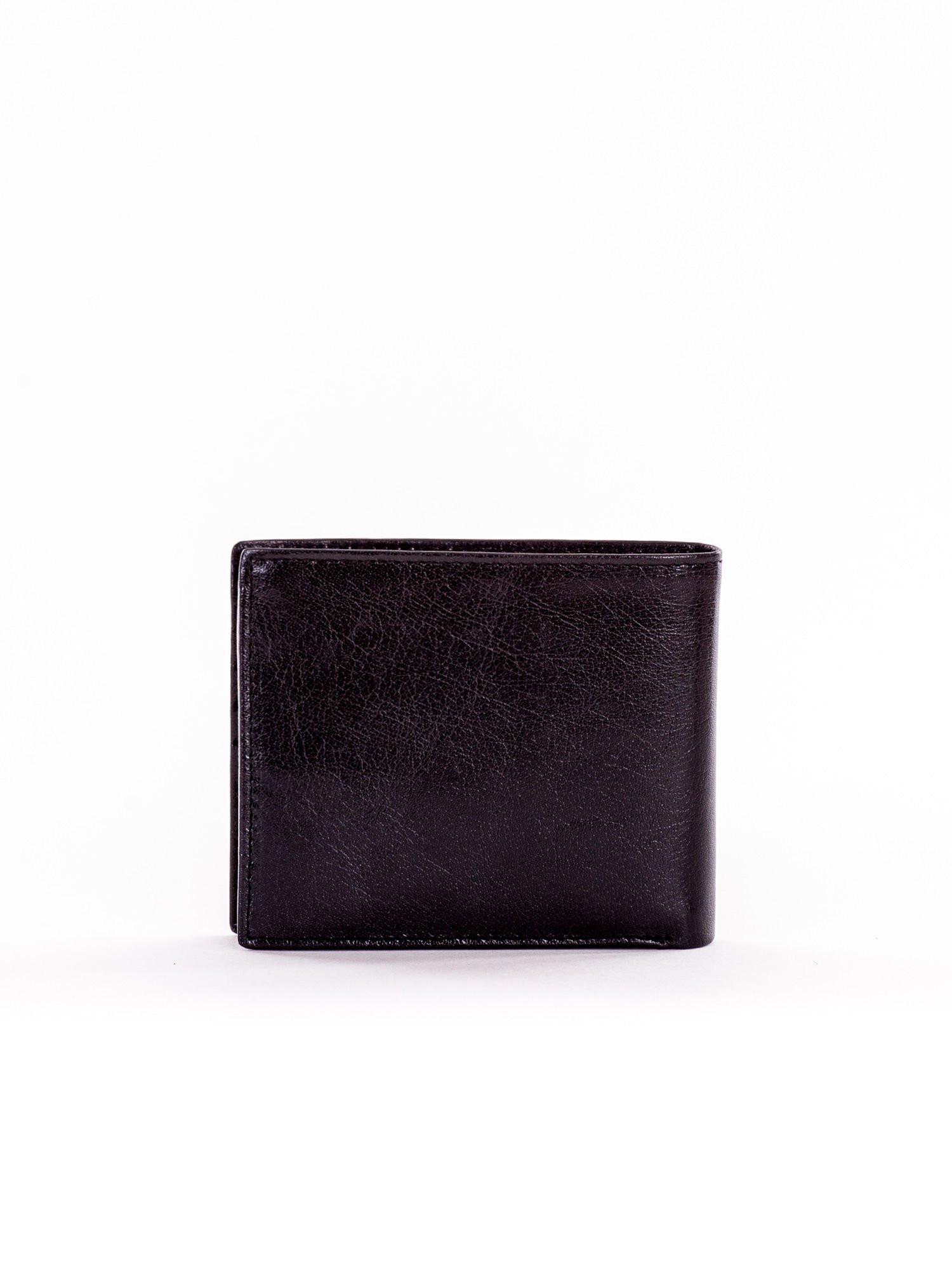 Pánska čierna kožená peňaženka jedna velikost