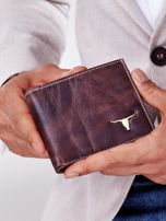 Pánska hnedá peňaženka z pravej kože ONE SIZE