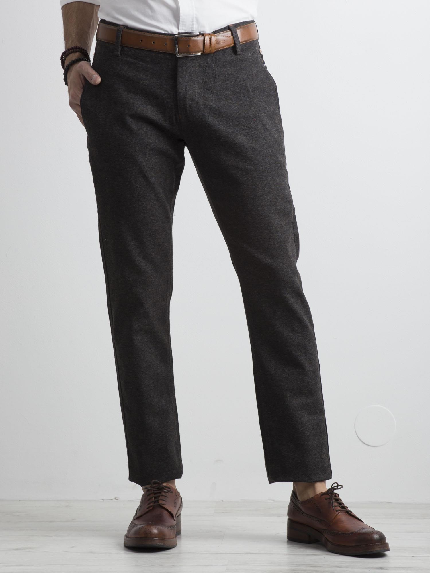 Pánske tmavo šedé chino nohavice 29