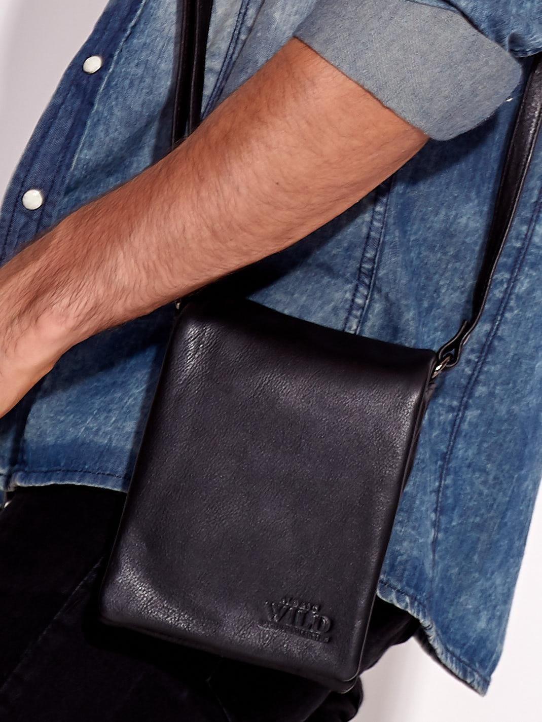 Pánska čierna taška cez rameno one size