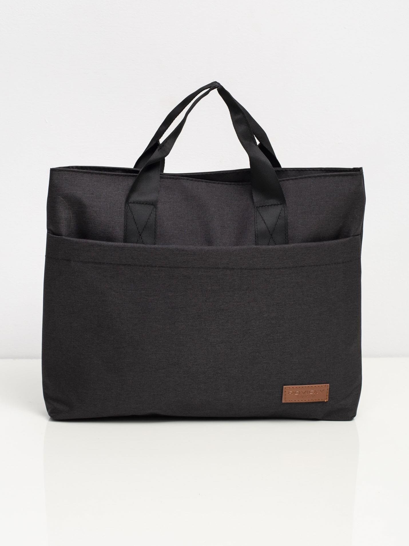 Čierna látková taška na notebook one size