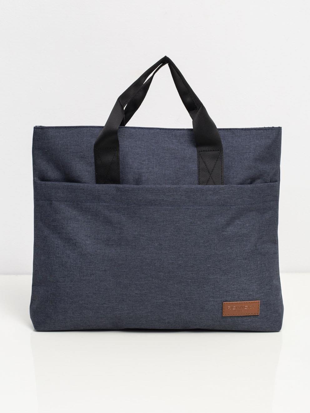 Tmavo modrá látková taška na notebook ONE SIZE