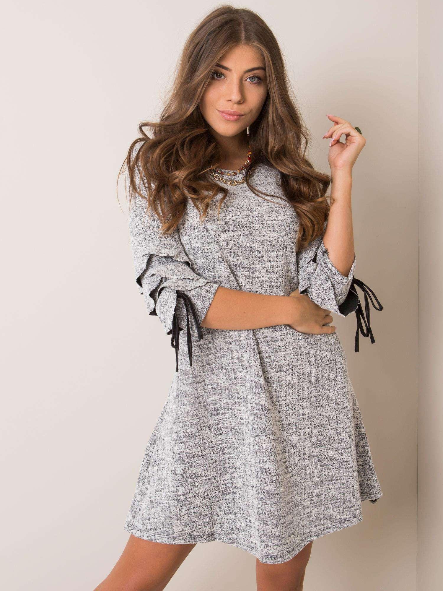 Sublevel Šedé melanžovej šaty L