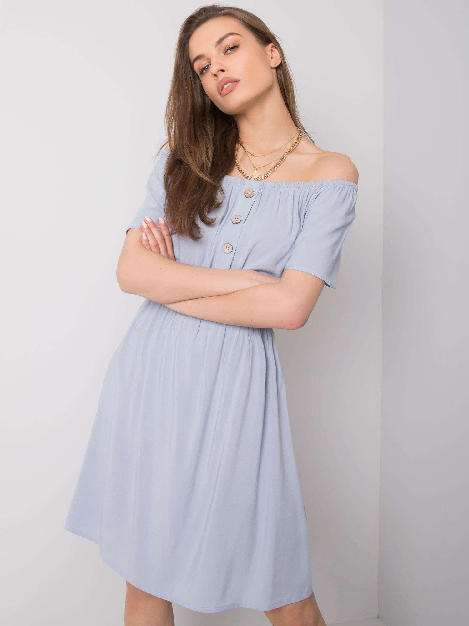 Sublevel Dámske svetlo modré šaty S