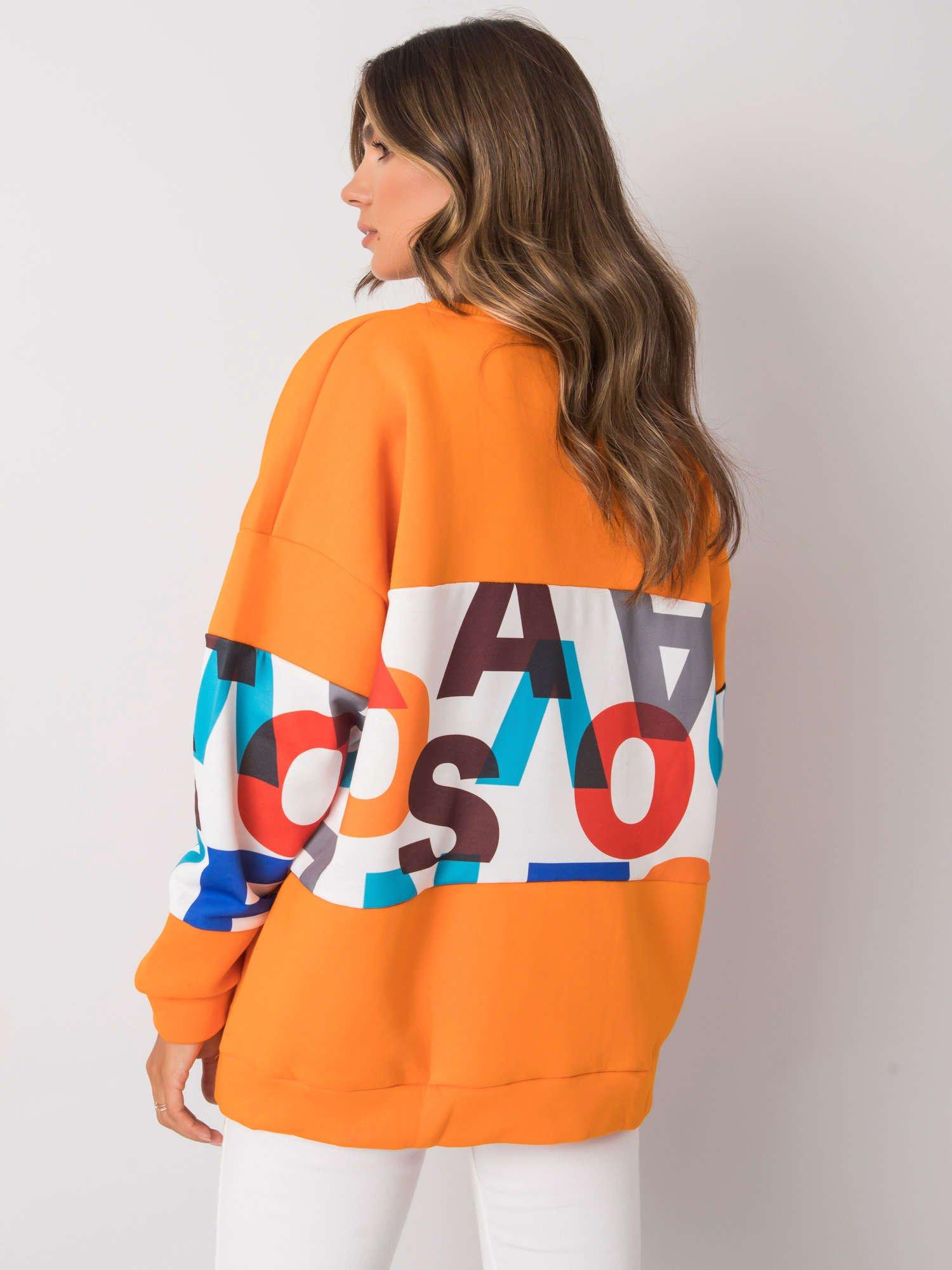 Oranžová dámska mikina s kapucňou L/XL