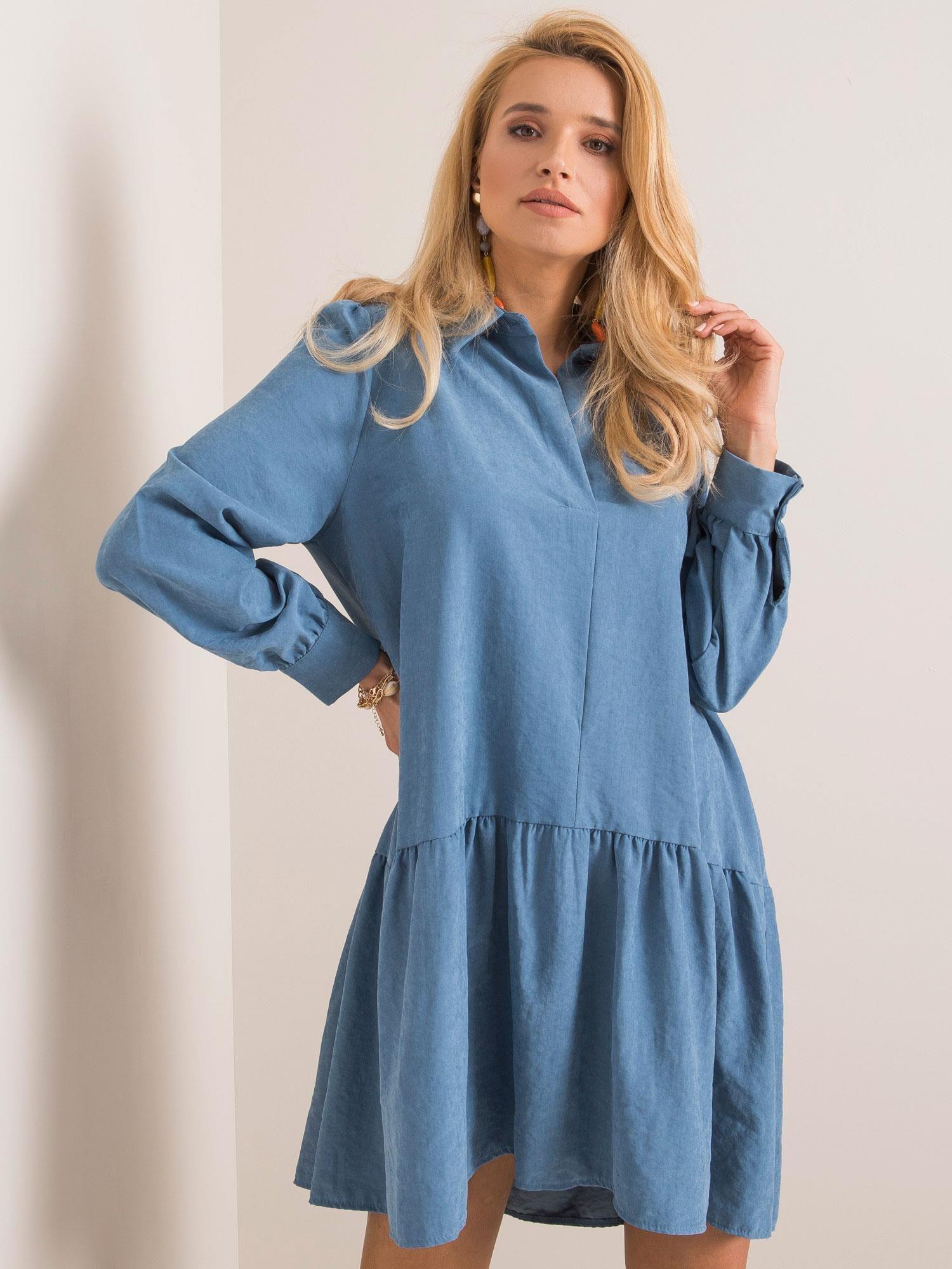 Modré nadmerné šaty M