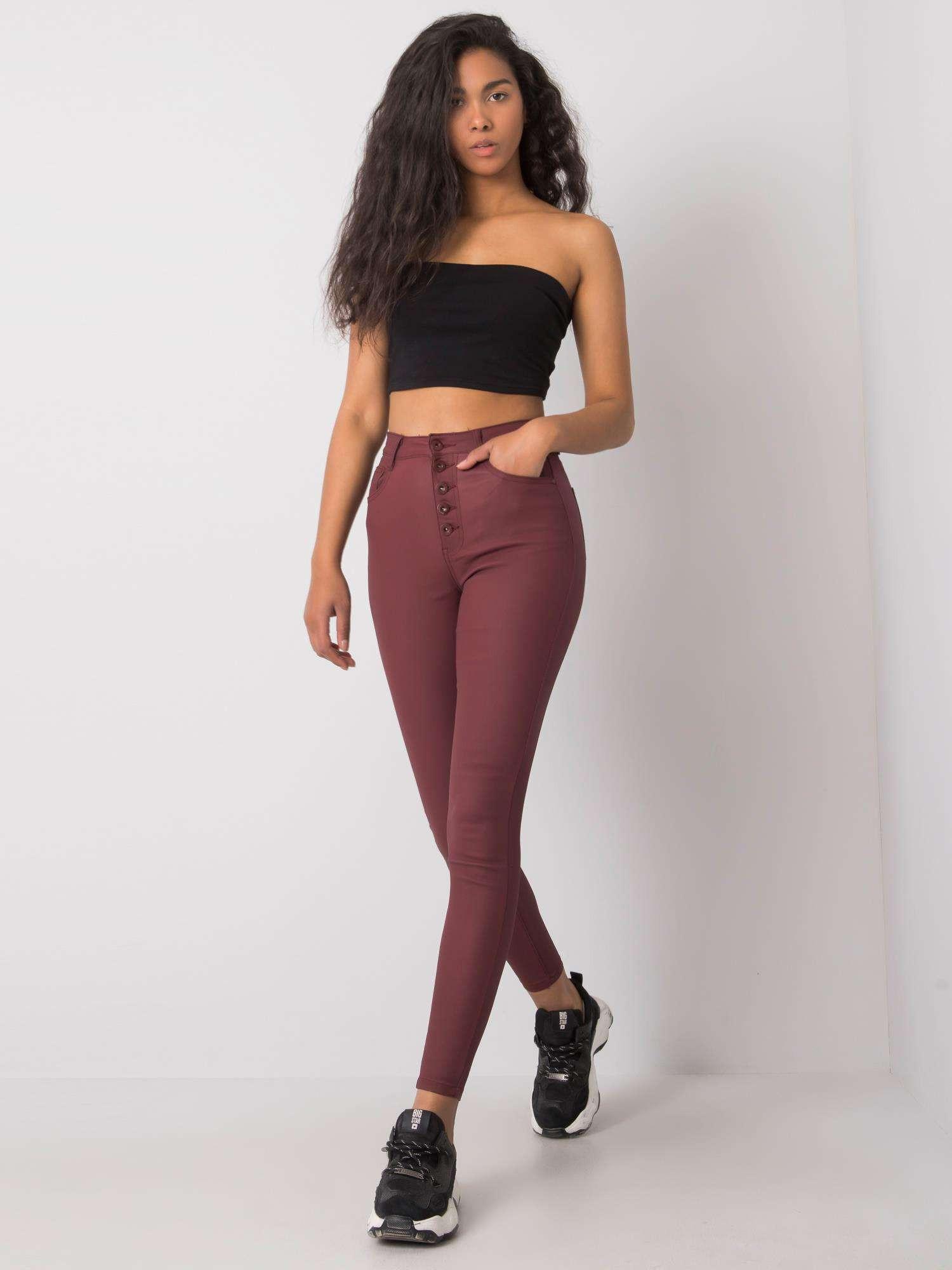 Dámske voskové voskované nohavice XL