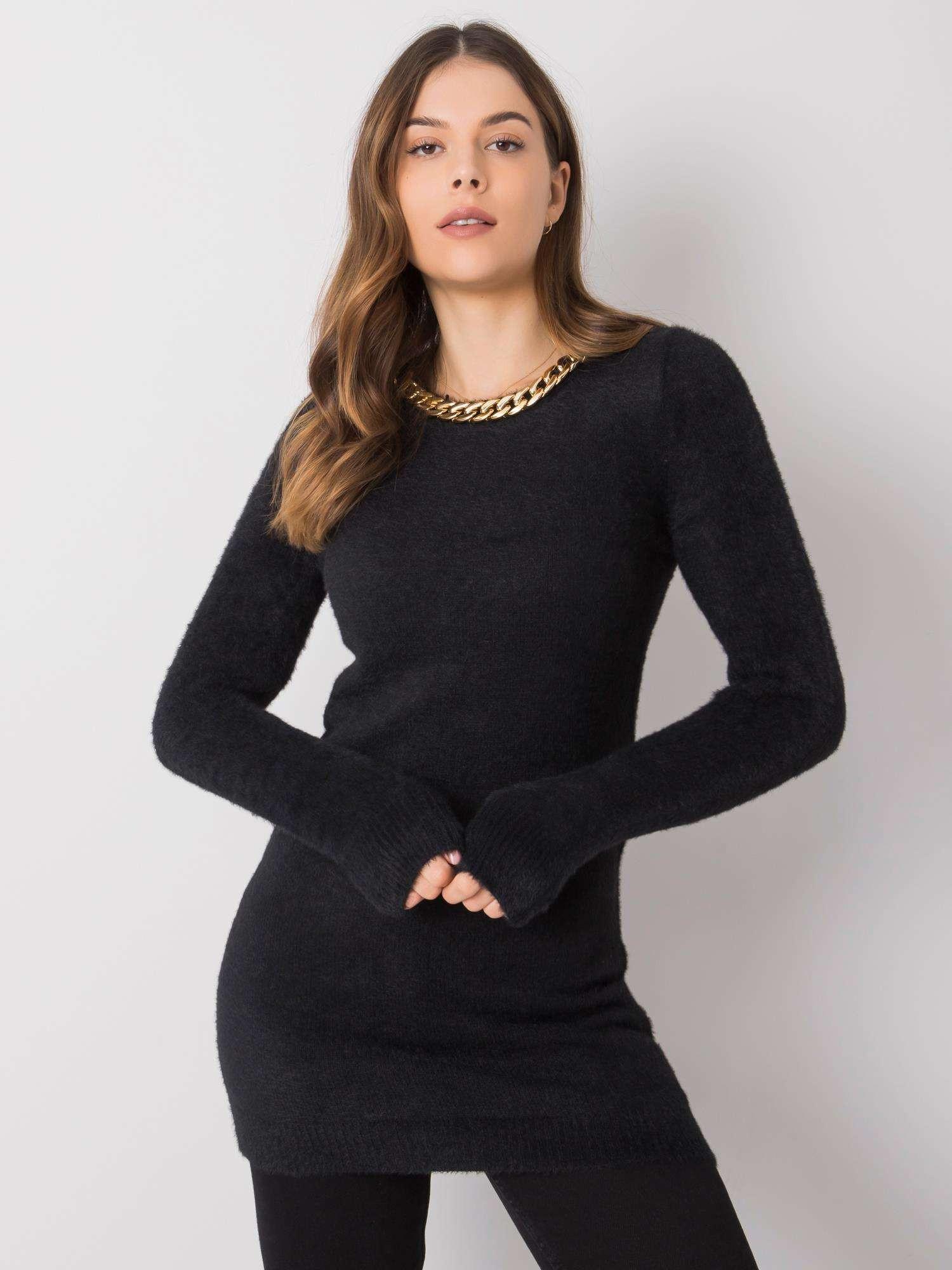 Dámský černý dlouhý svetr jedna velikost
