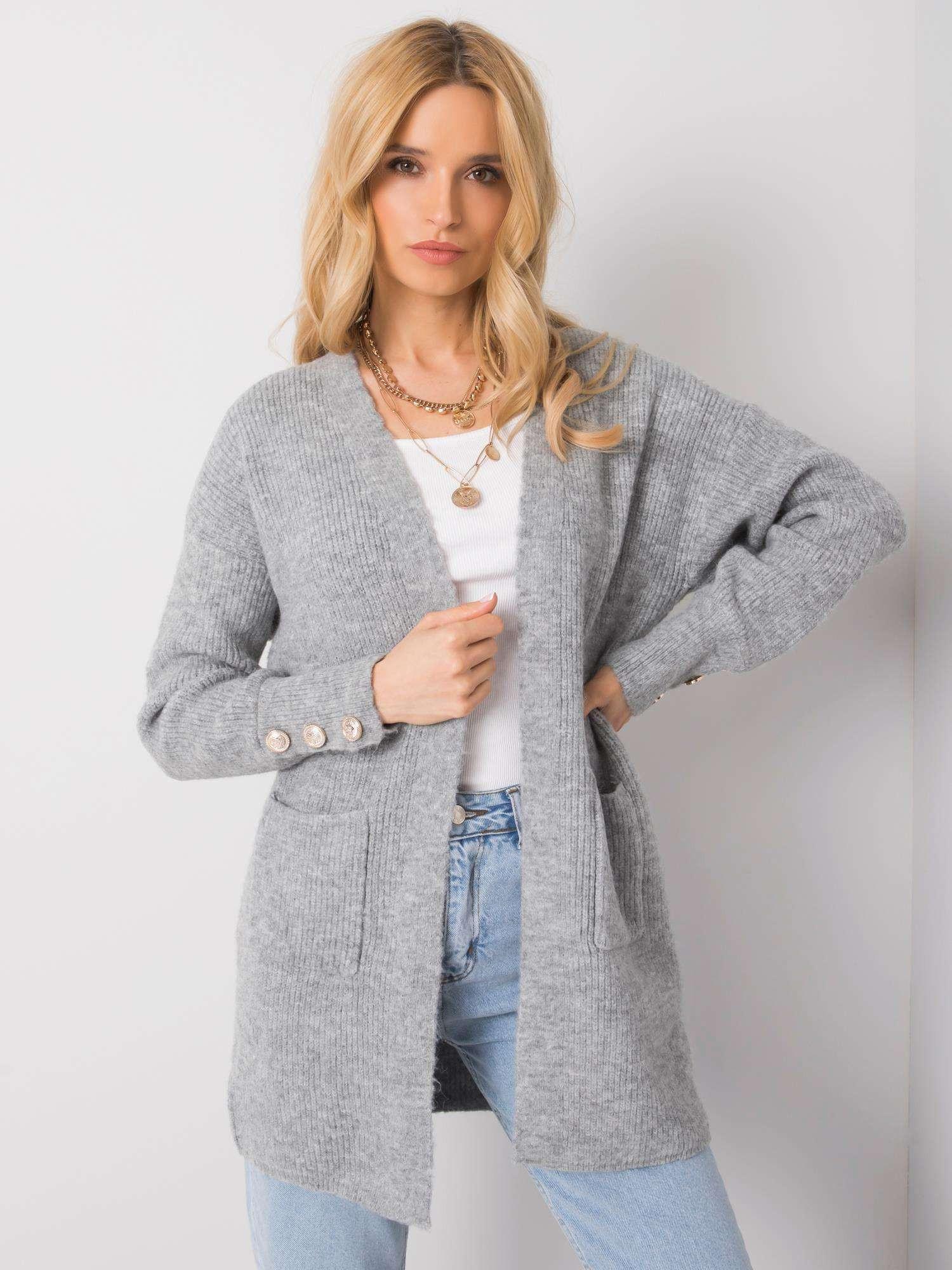 Dámsky šedý sveter jedna velikost