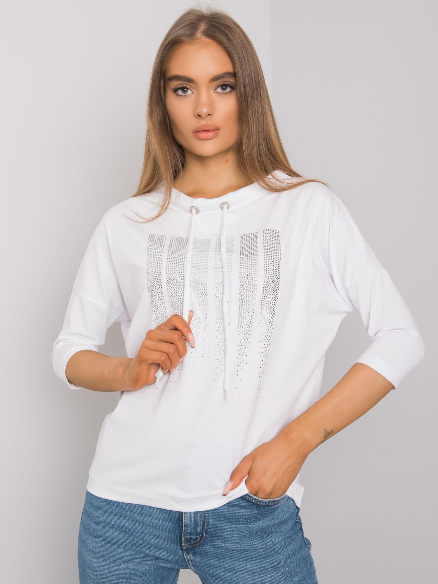 Biela bavlnená dámska blúzka M/L