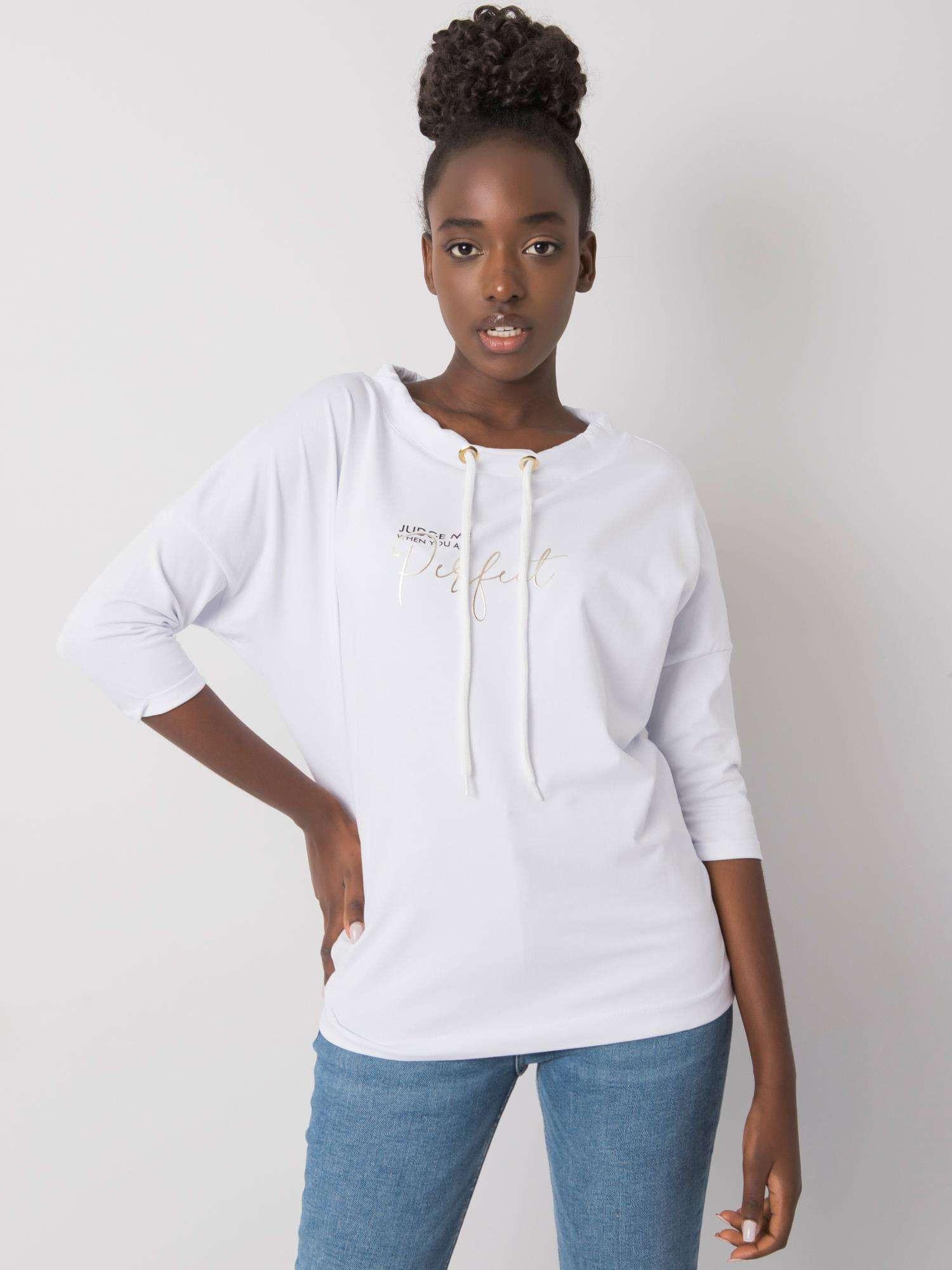 Dámska biela bavlnená blúzka S/M