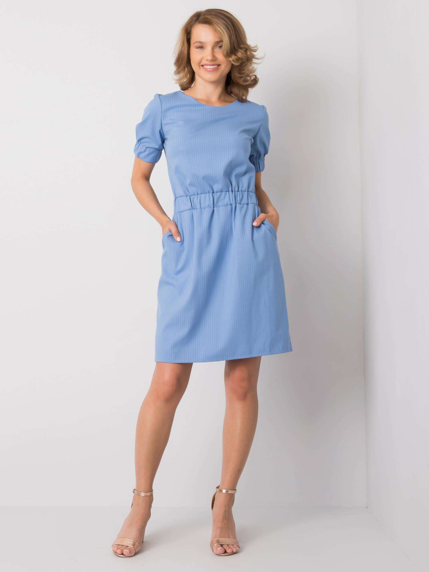 Modré dámske ležérne šaty 40