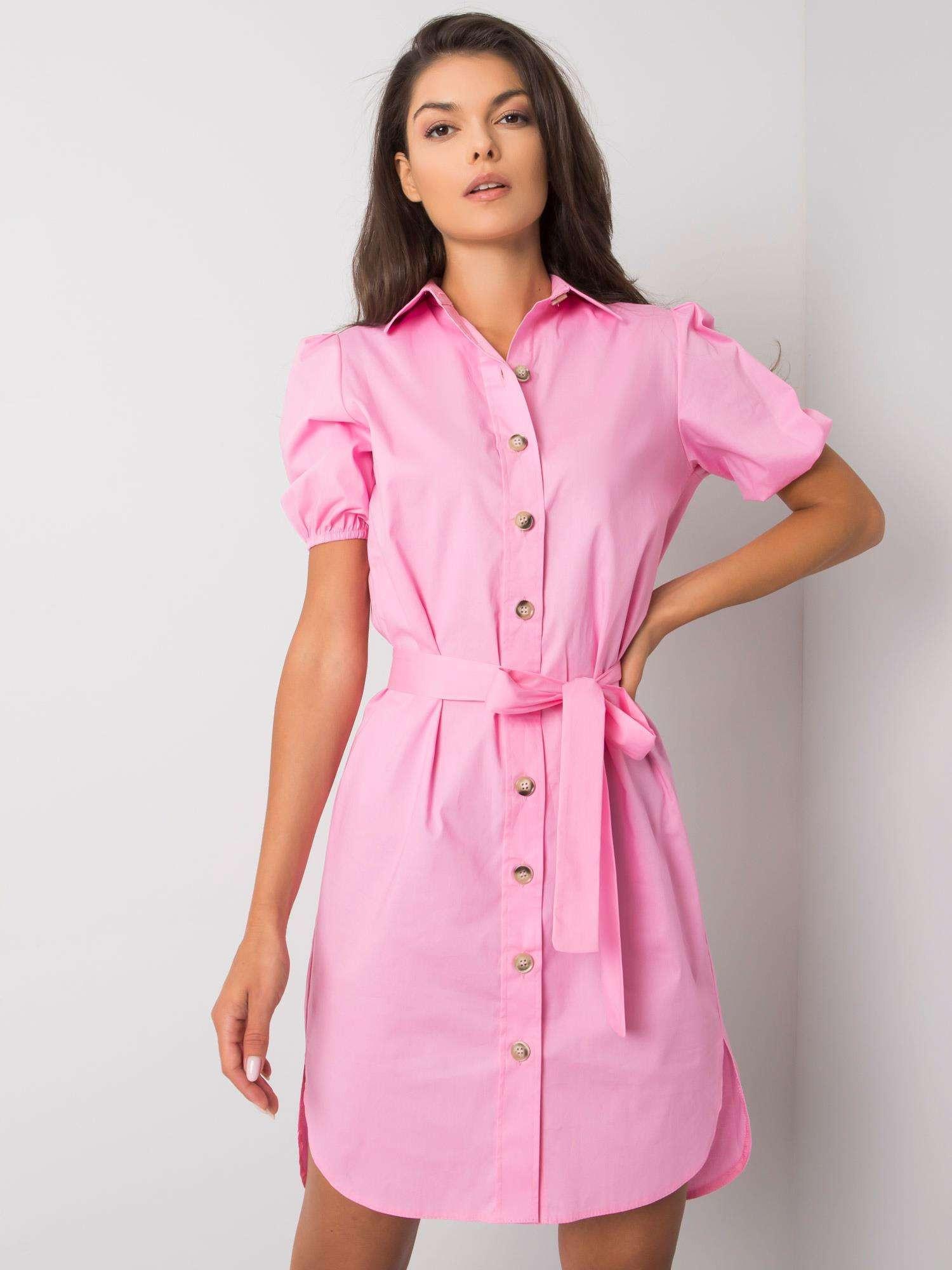 Ružové šaty chemise 42