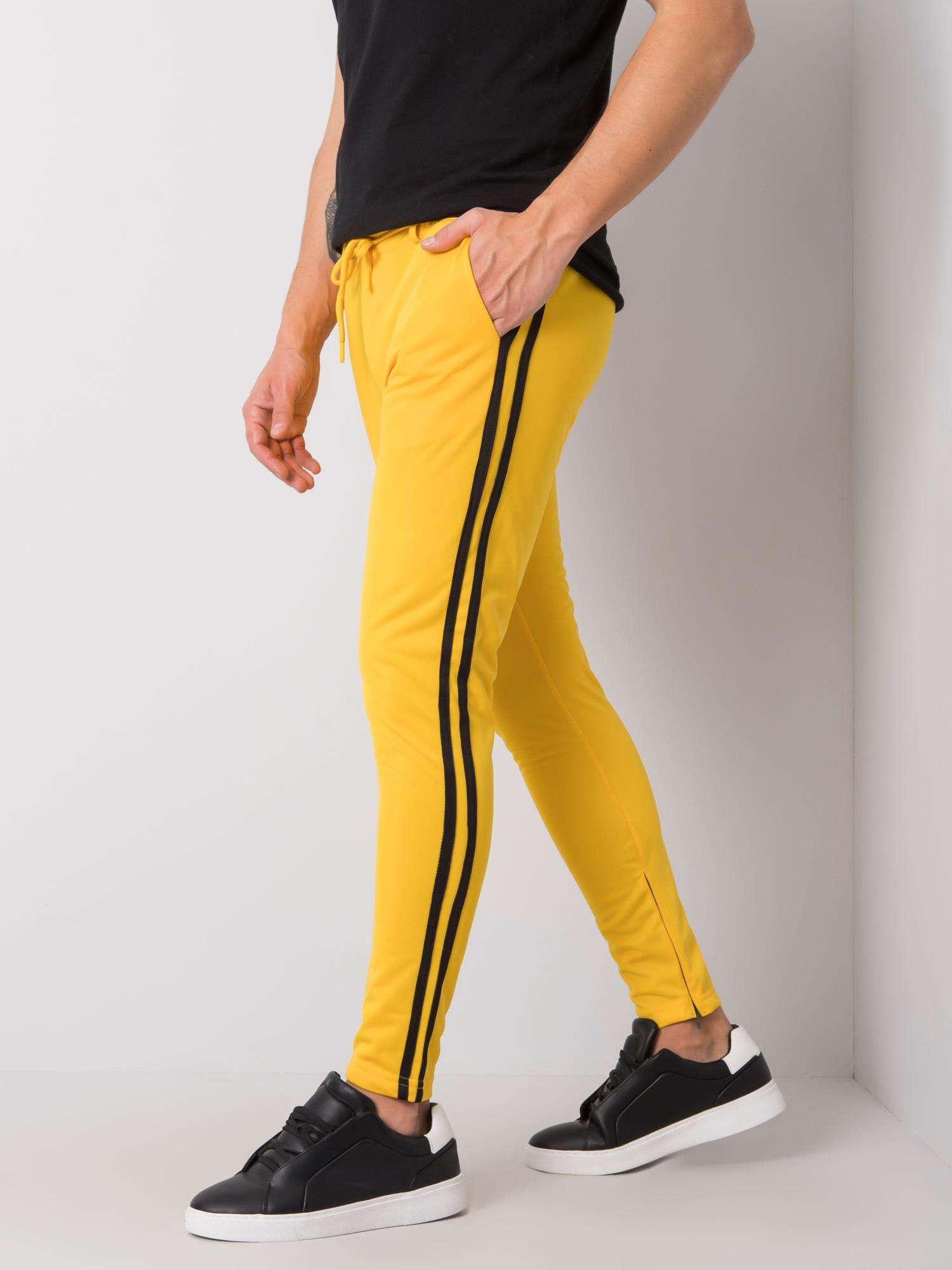 Pánske žlté tepláky M