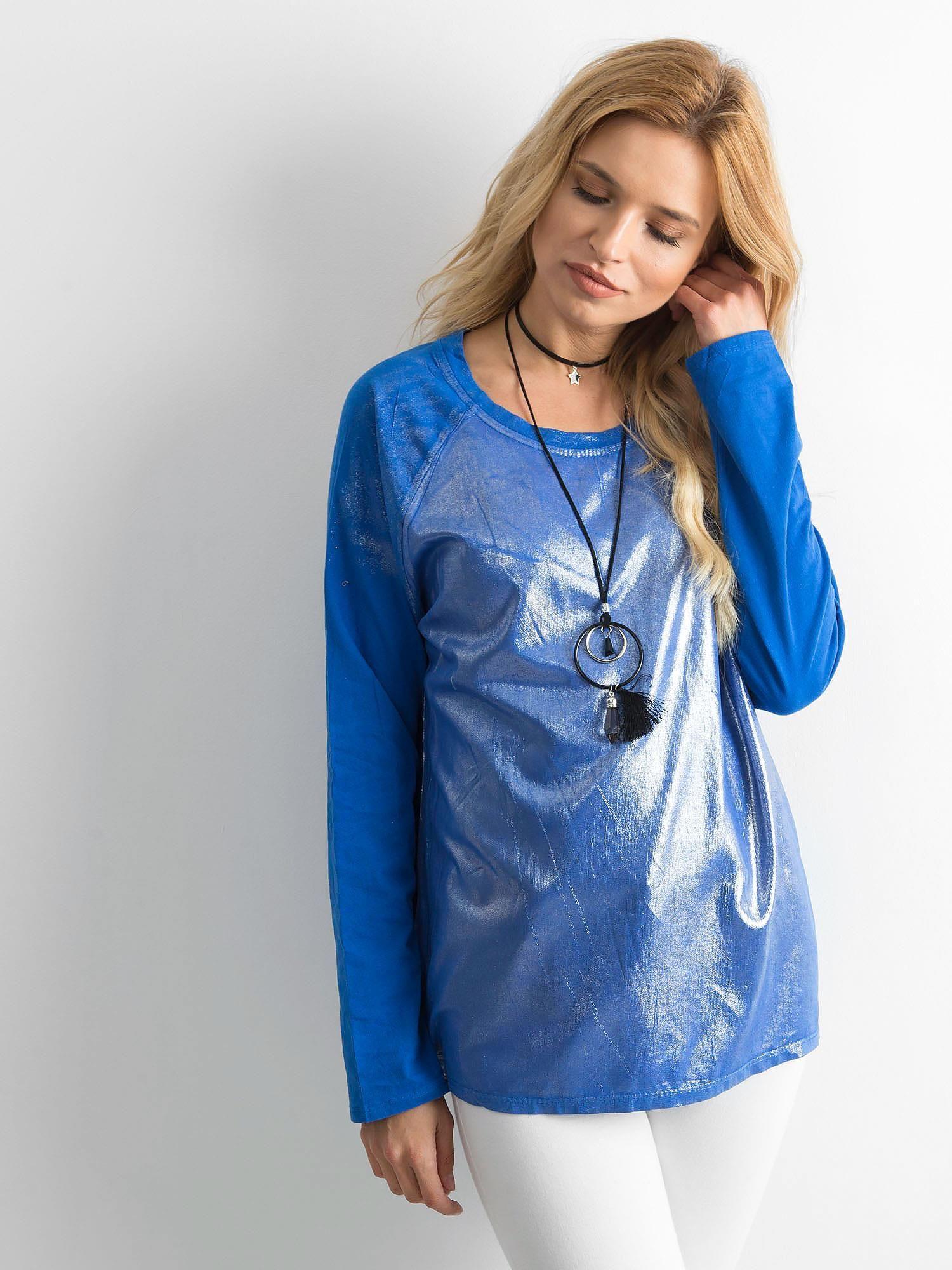 Tunika s miernym leskom, tmavo modrá one size S / M