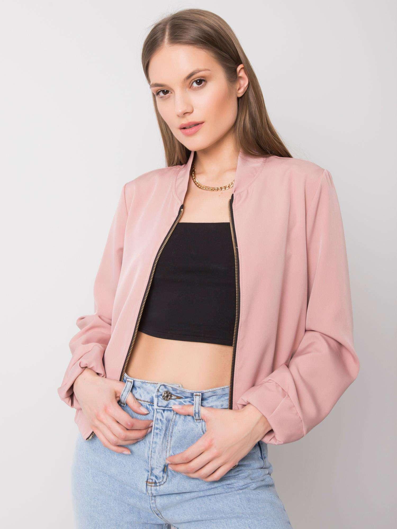 Pudrově růžová dámská mikina M