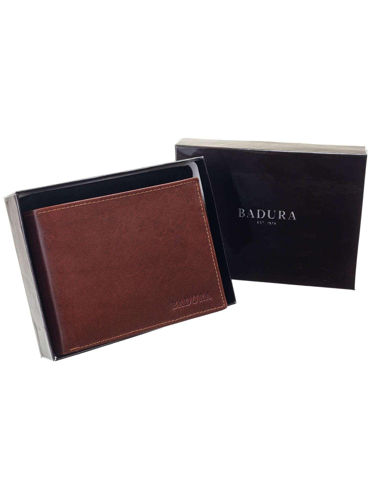 Badura Klasická hnedá kožená pánska peňaženka one size