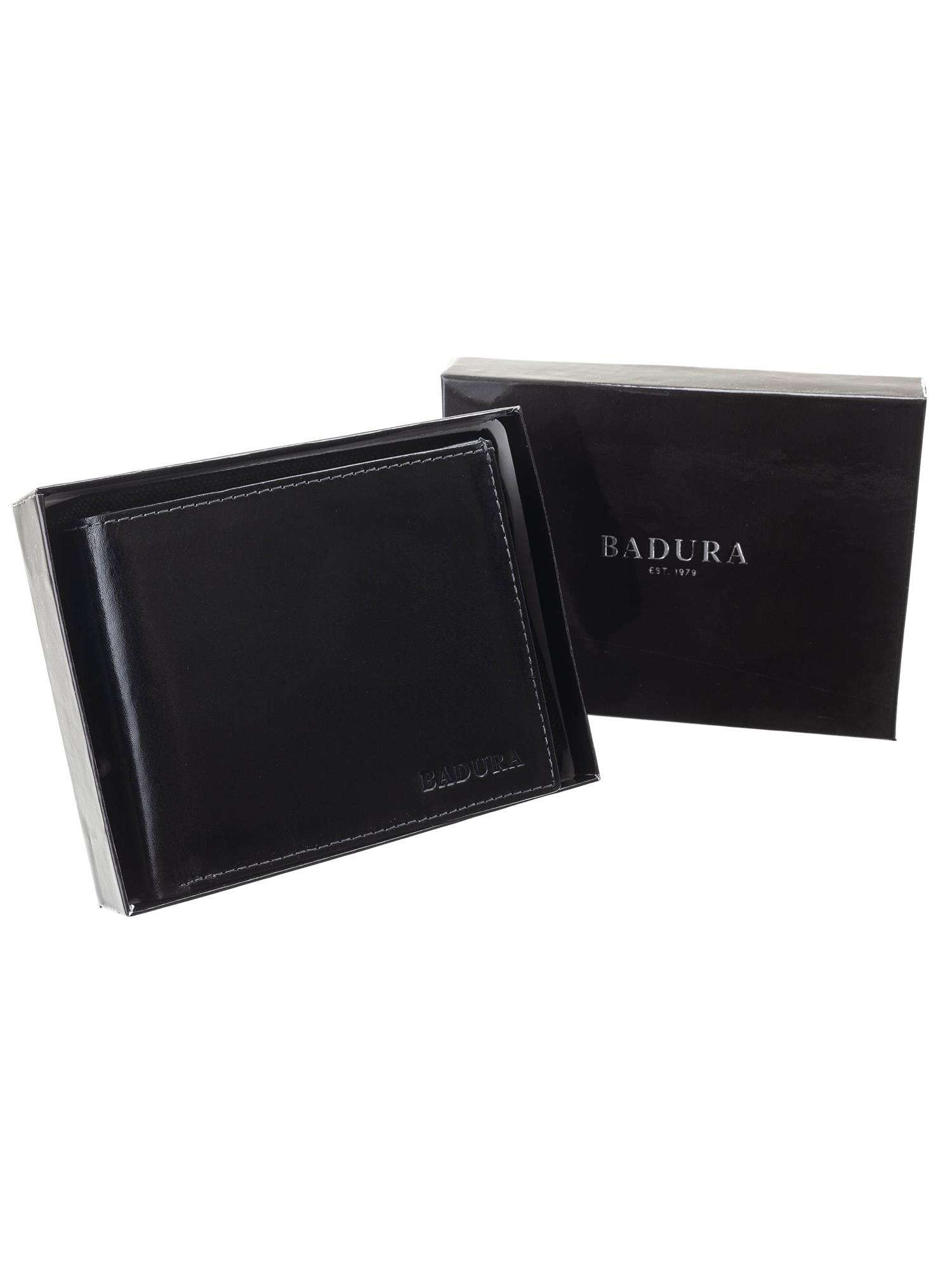Badura Klasická čierna pánska kožená peňaženka one size