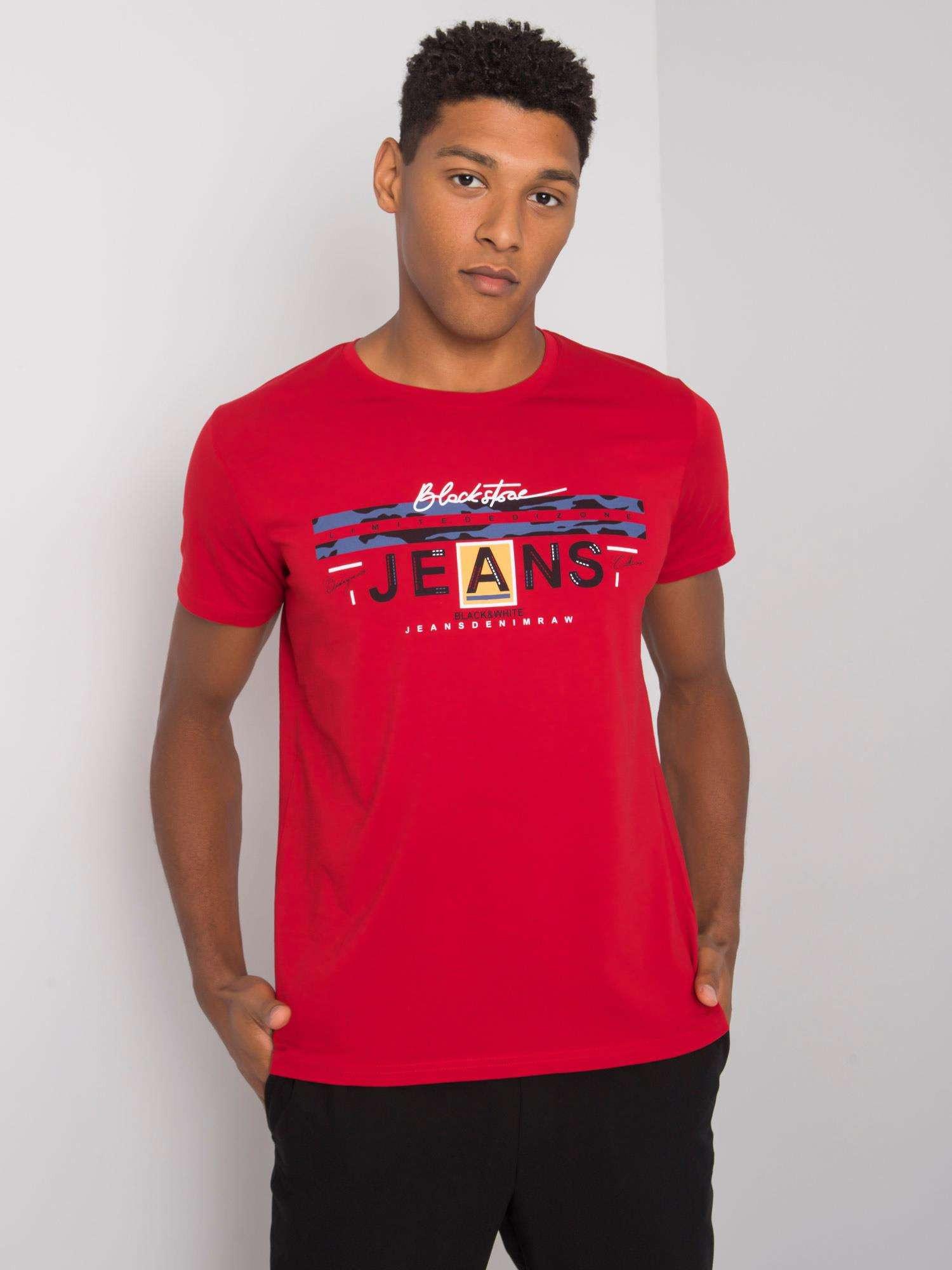 Bordó bavlnené pánske tričko L