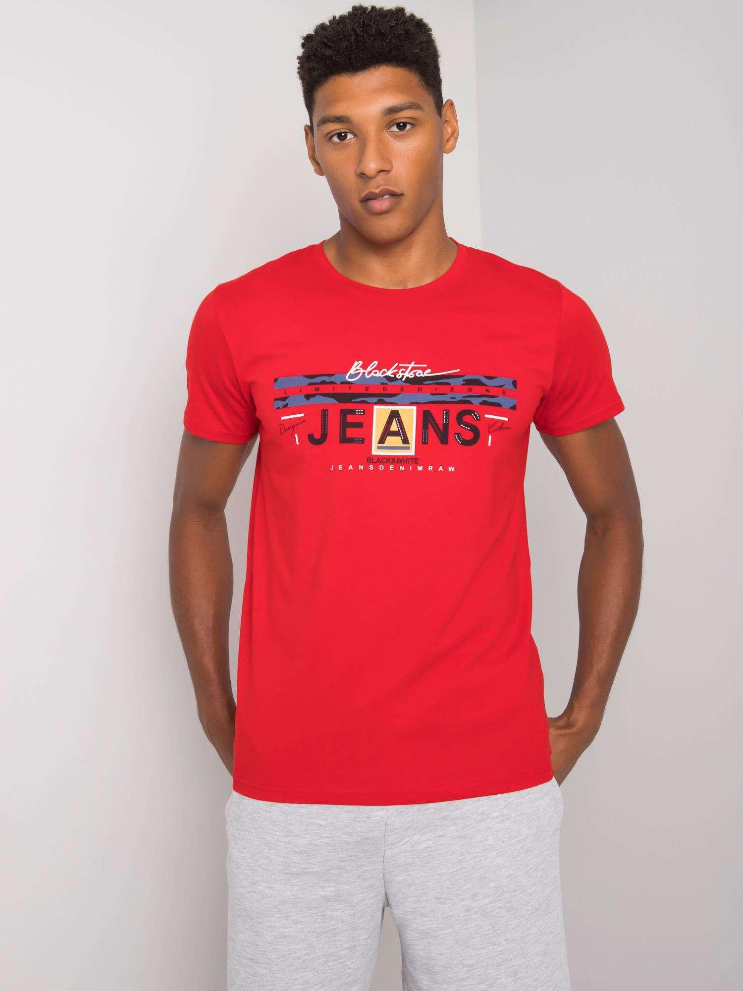 Červené bavlněné pánské tričko L