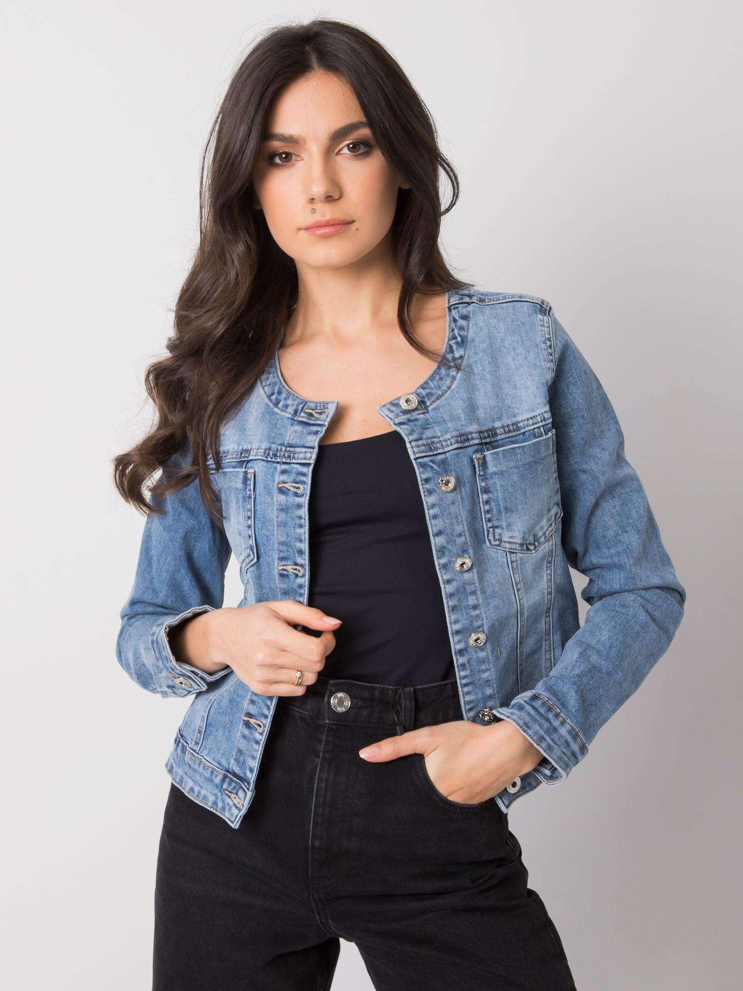 Modrá krátká džínová bunda M