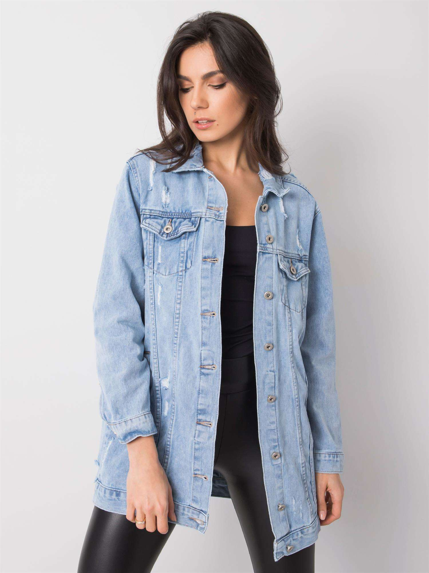 Dámska modrá džínsová bunda M / L