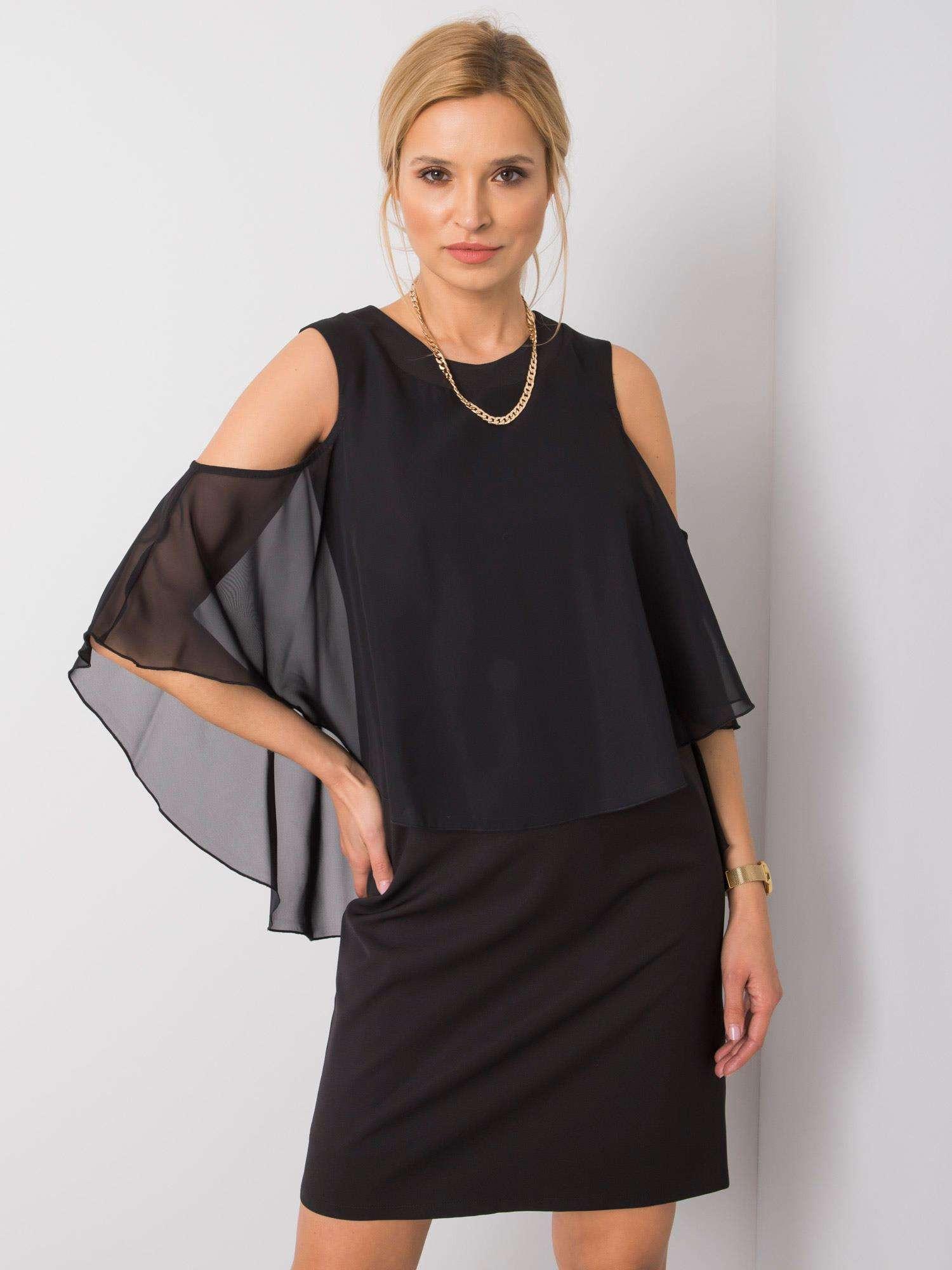 Čierne spoločenské šaty 36