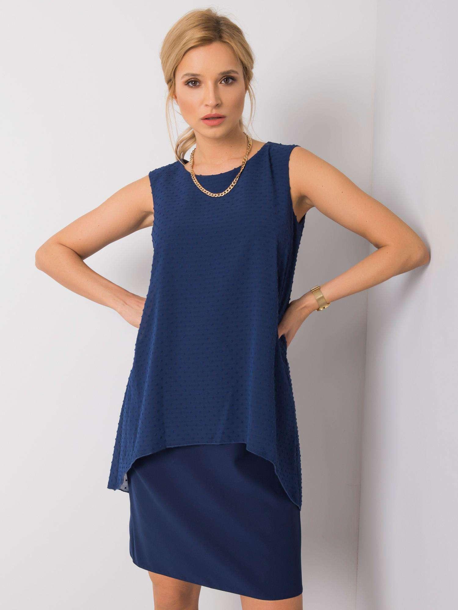 Dámske tmavo modré šaty 40