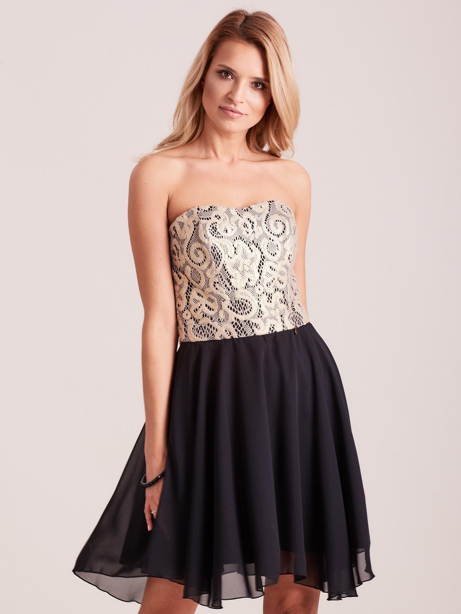 Elegantné čierne čipkované šaty 36