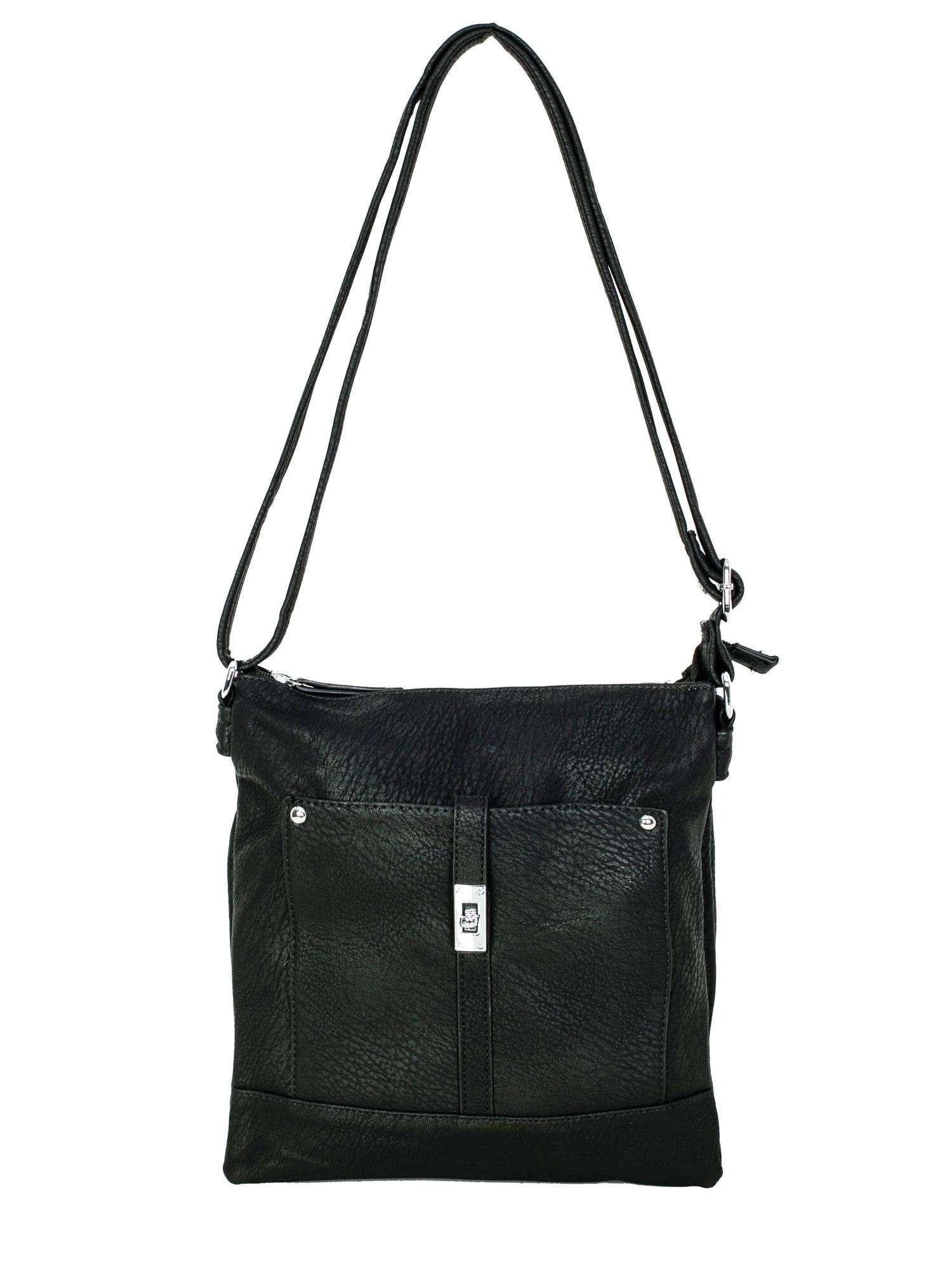 Čierna dámska kabelka jedna velikost