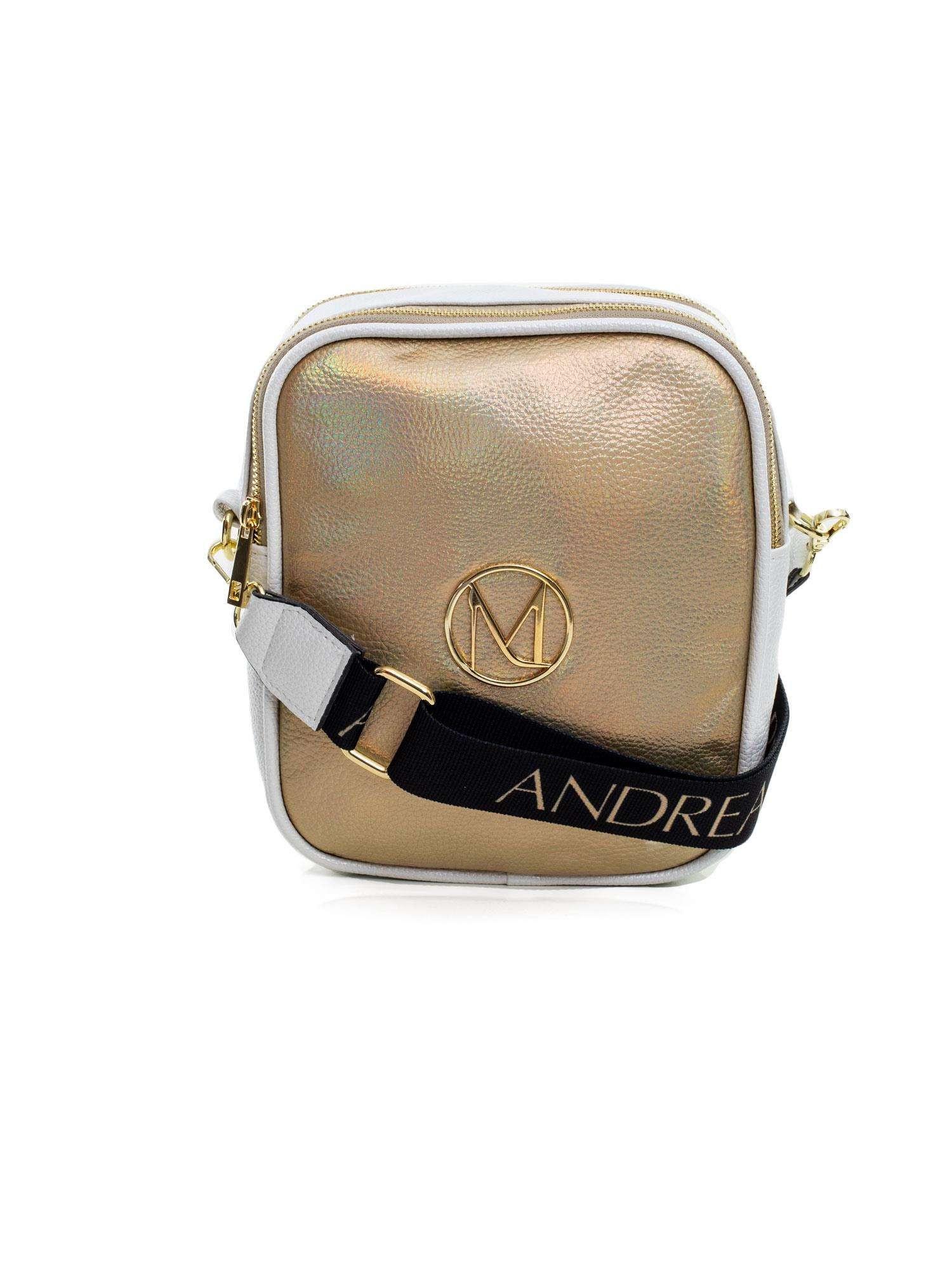 Dámska bielo-zlatá kabelka cez rameno one size