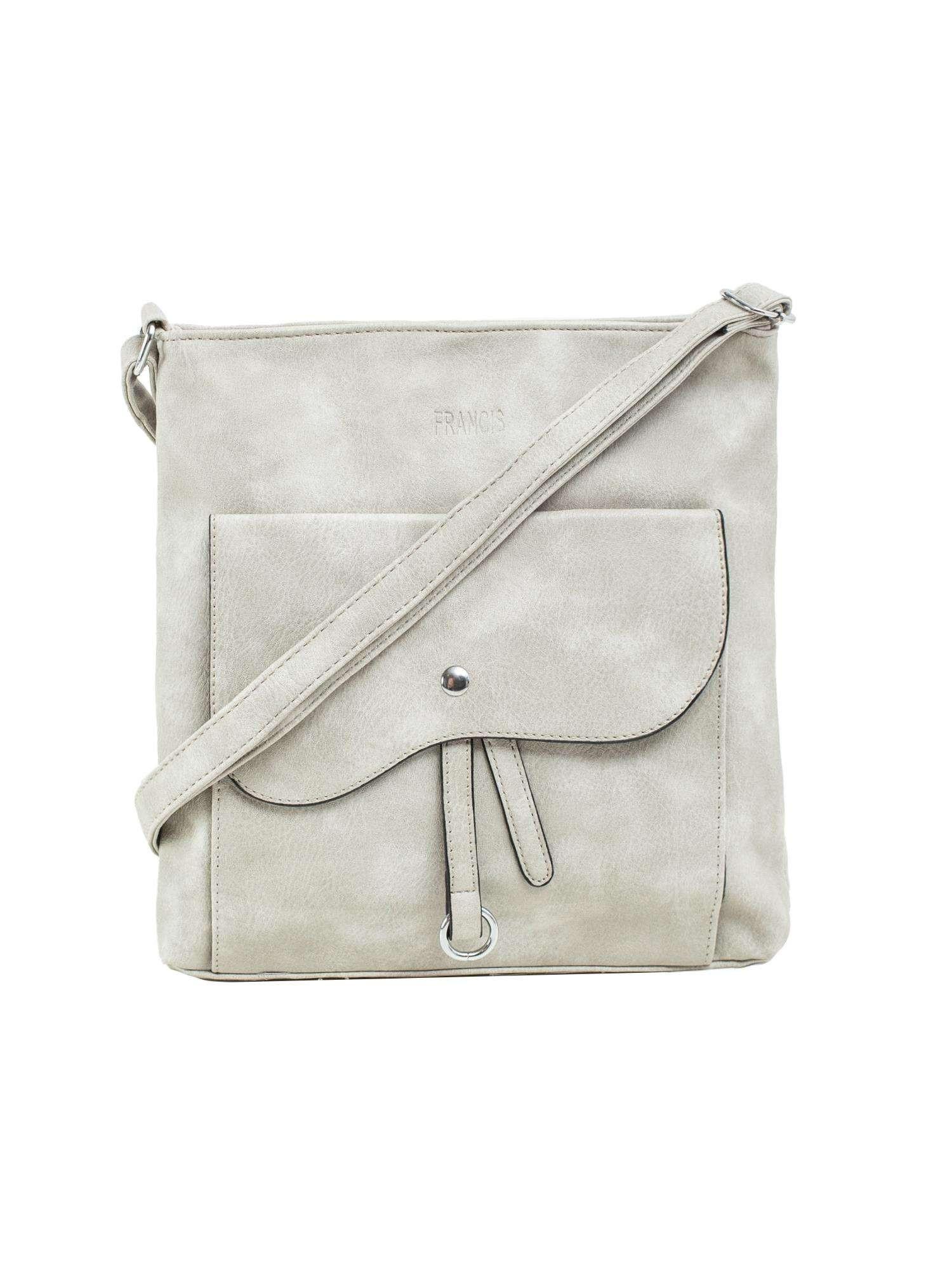 Dámska šedá taška z ekologickej kože ONE SIZE