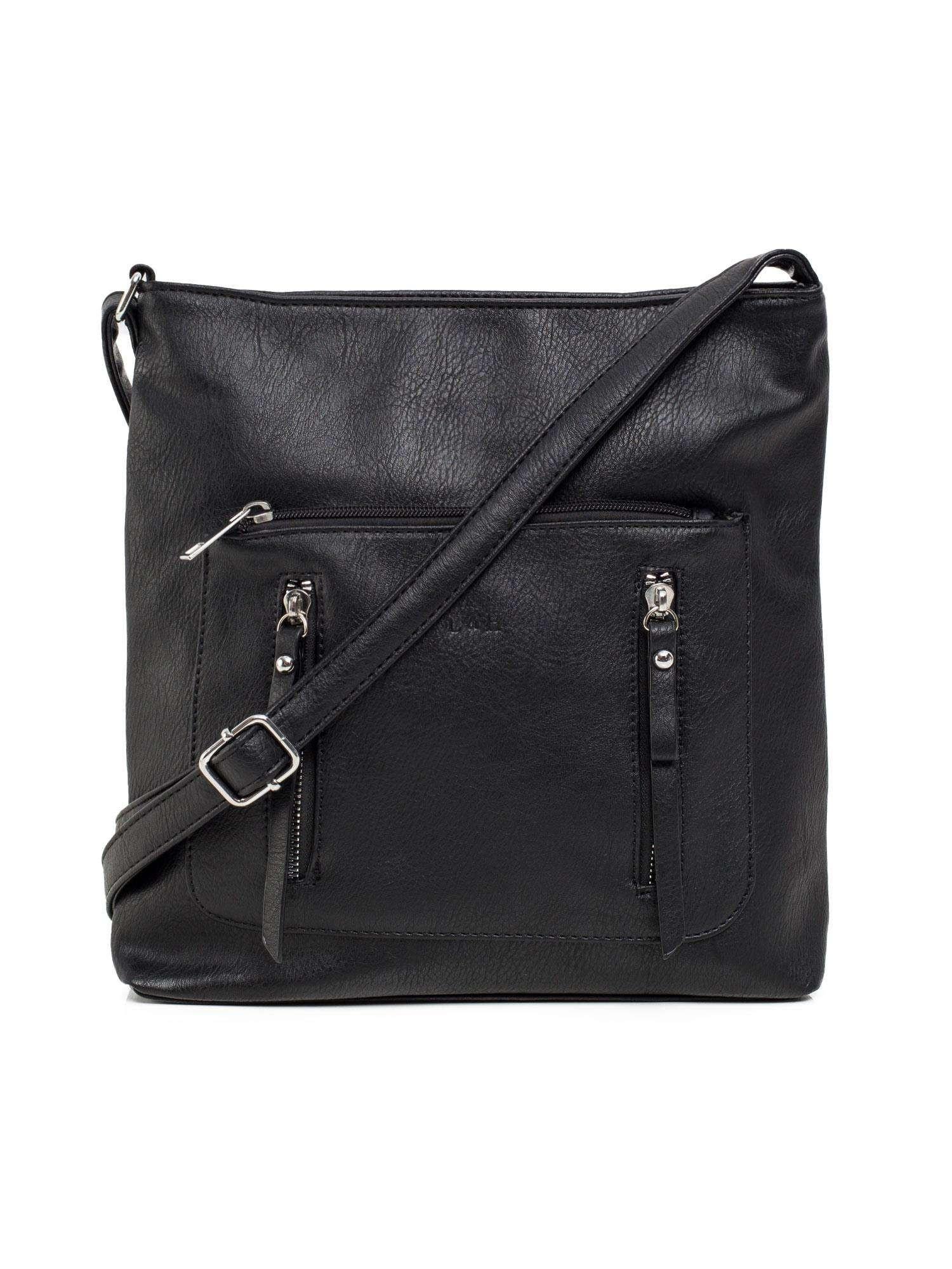 Čierna kabelka z ekokože univerzální