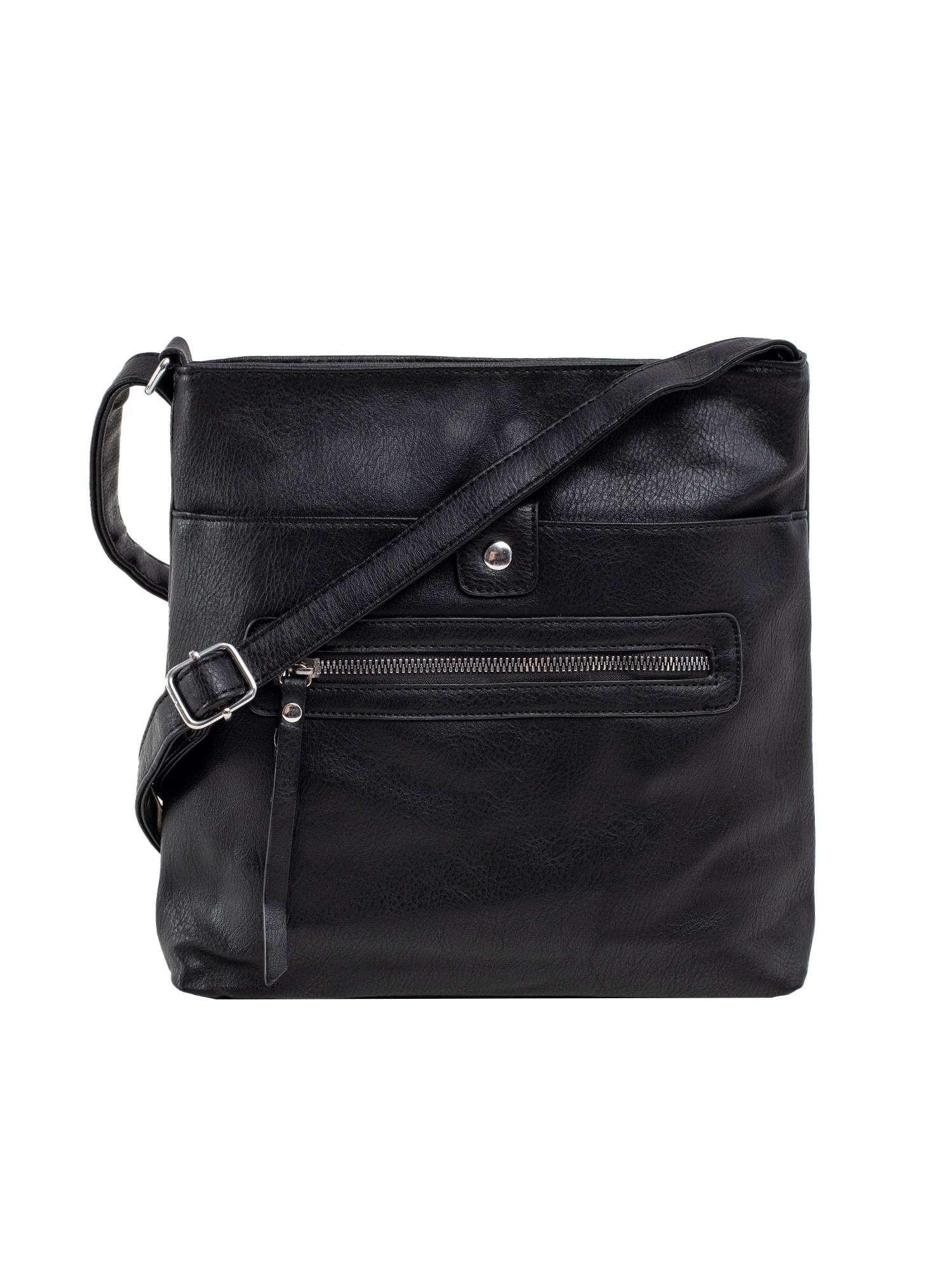 Dámska čierna taška z ekokože ONE SIZE