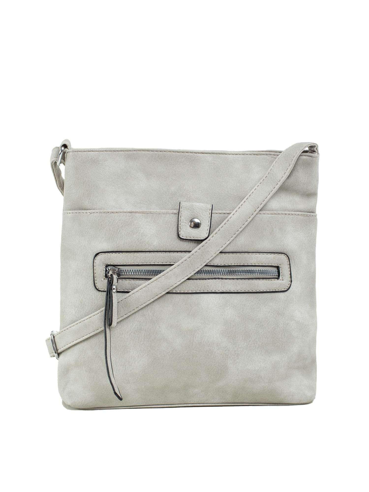 Šedá dámska taška z ekologickej kože ONE SIZE