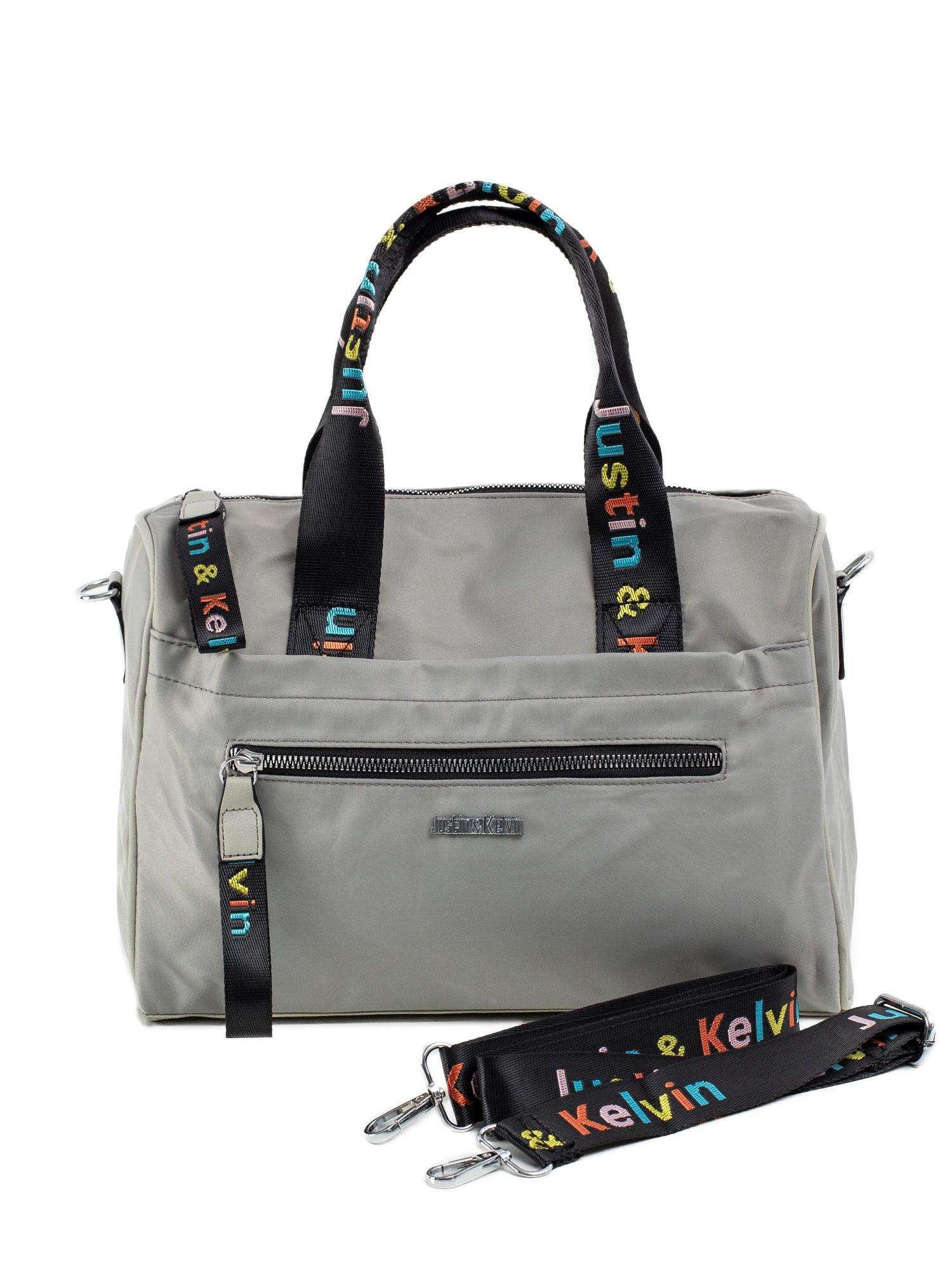 Dámska šedá taška s odnímateľným popruhom ONE SIZE