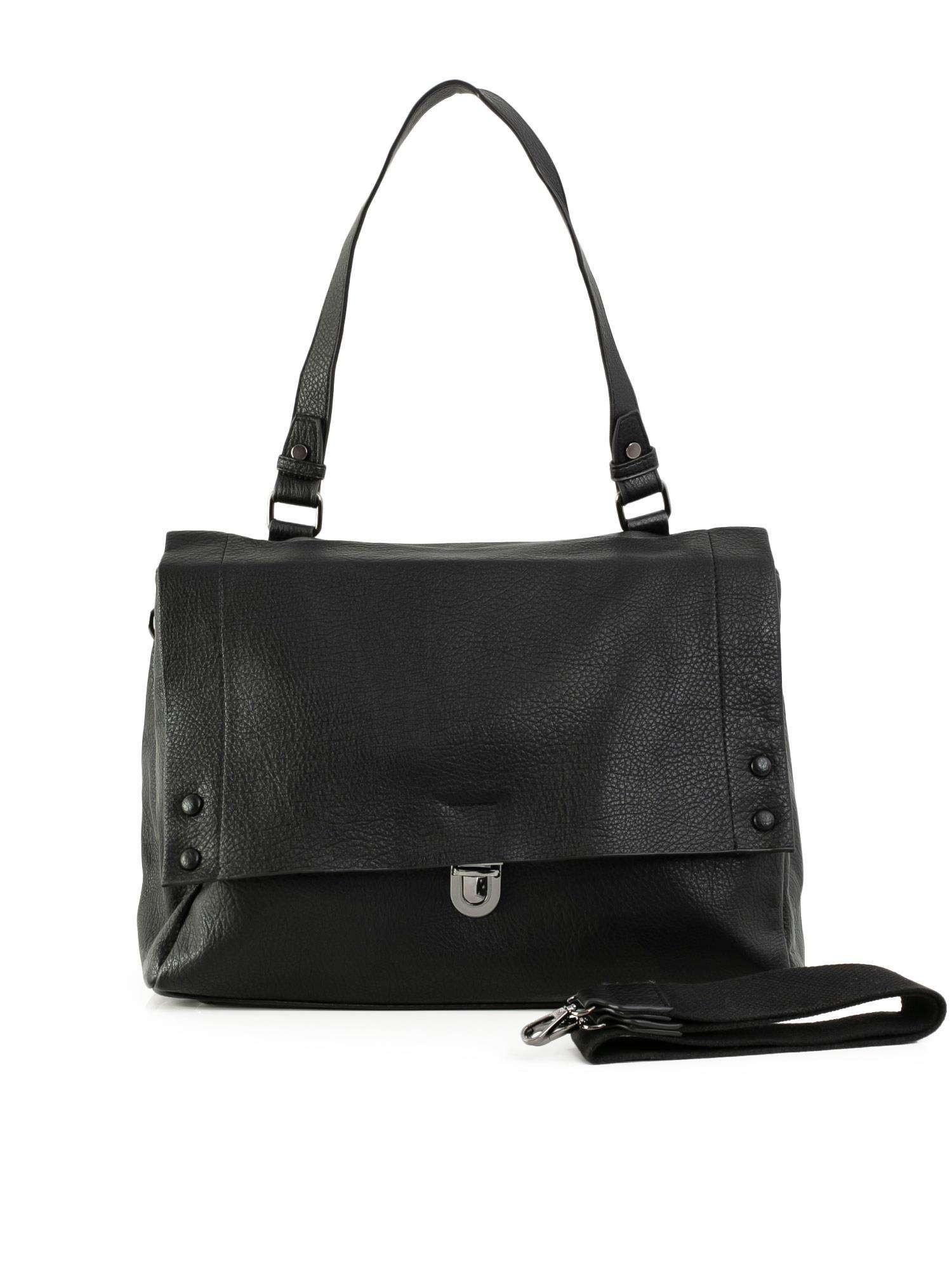 Čierna dámska taška z ekologickej kože one size
