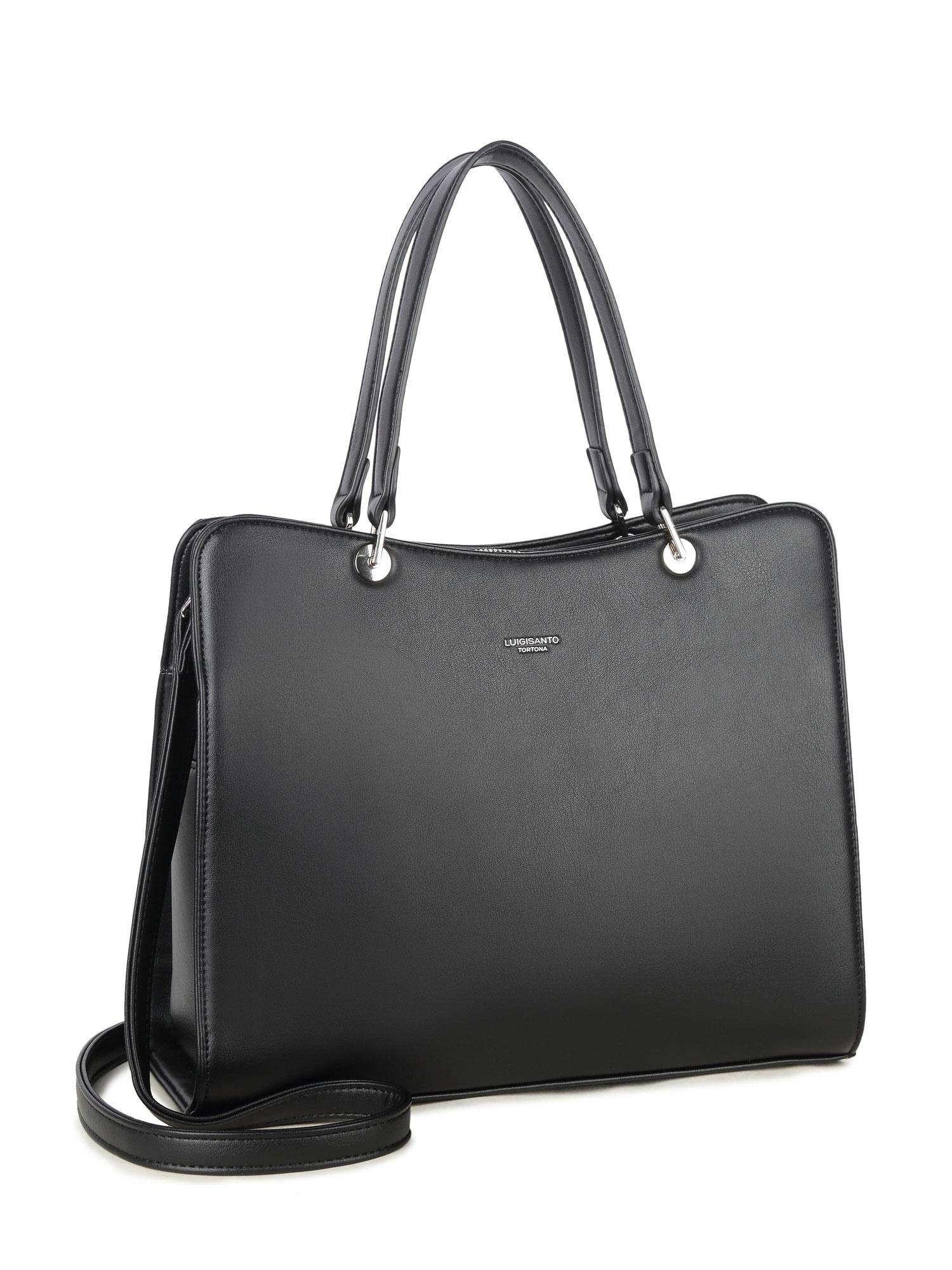 LUIGISANTO Černá elegantní kabelka ONE SIZE