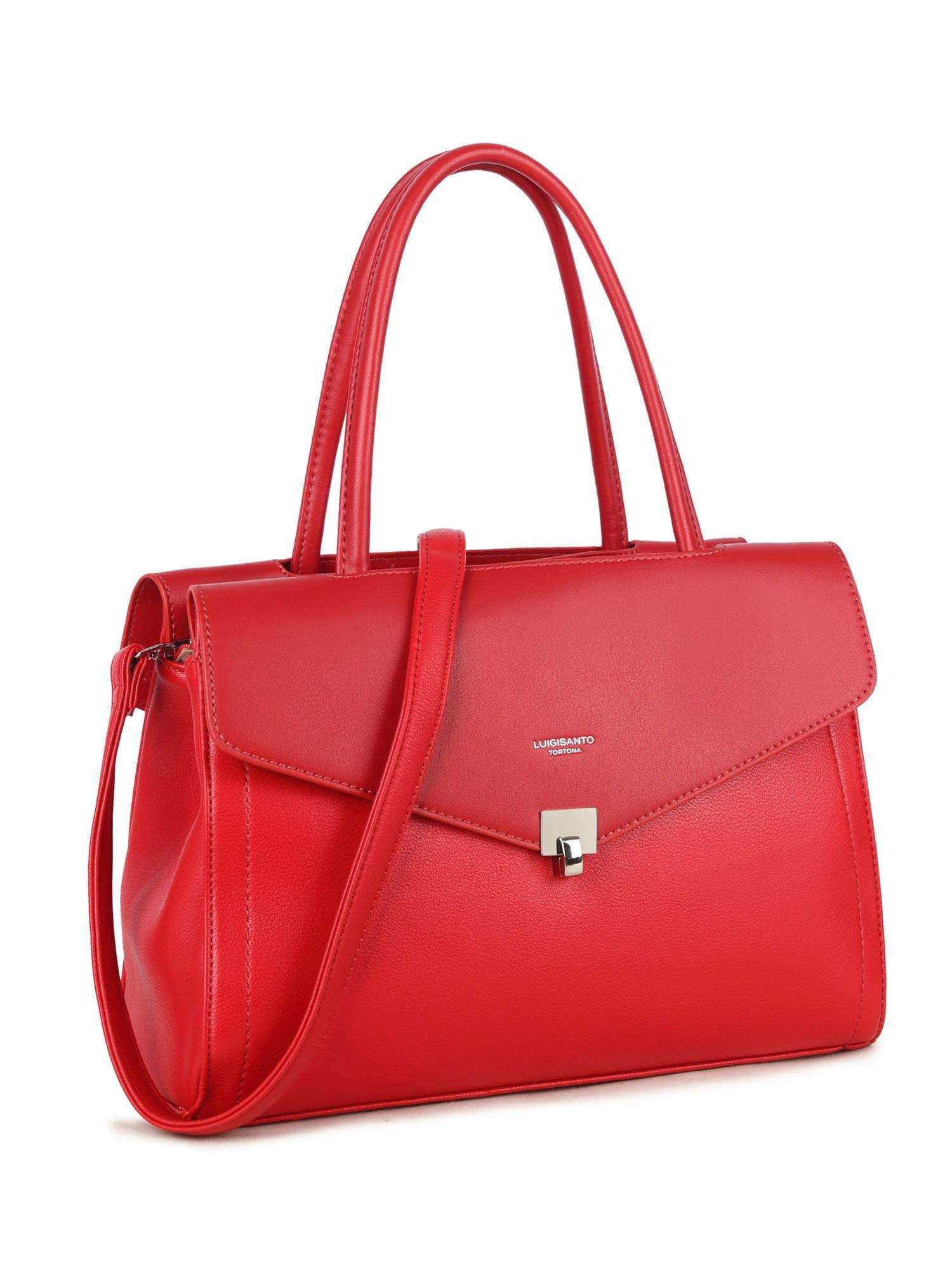 LUIGISANTO Červená mestská taška one size