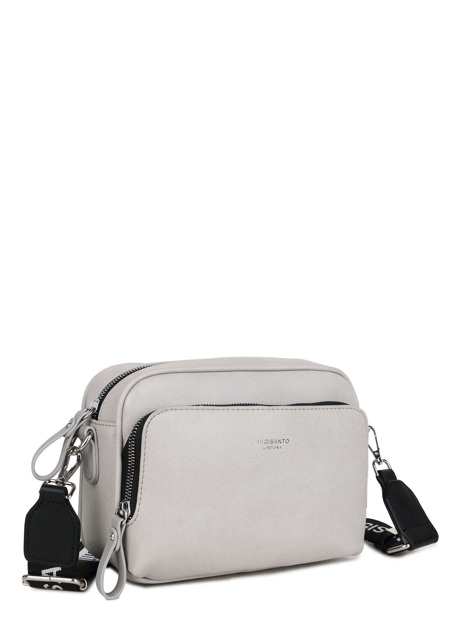 LUIGISANTO Béžová a šedá dámska taška z ekologickej kože ONE SIZE
