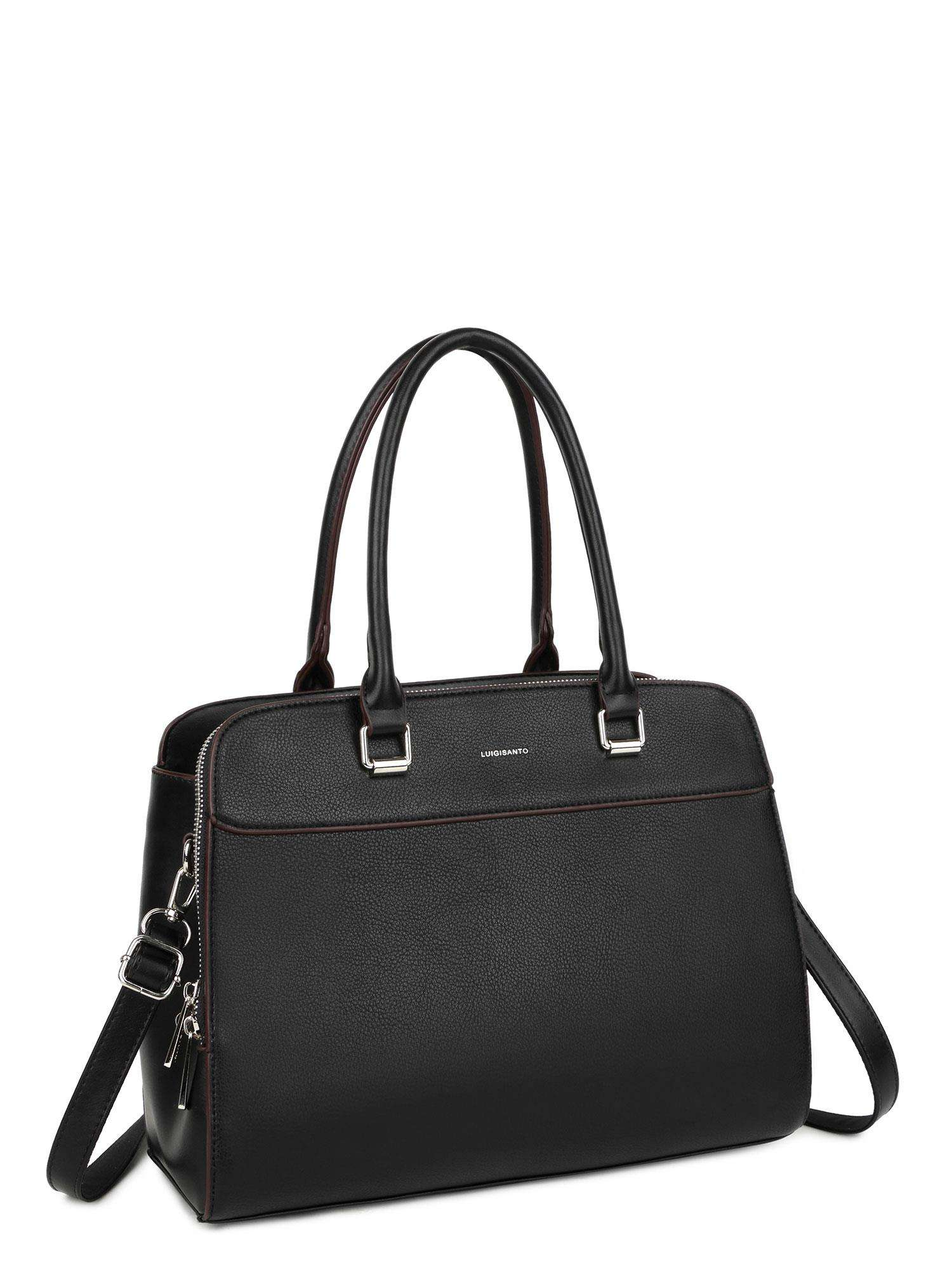 LUIGISANTO Čierna kabelka cez rameno one size