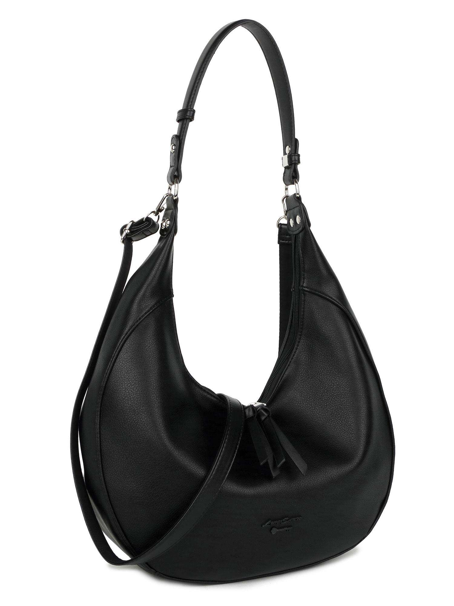 LUIGISANTO Čierna taška z ekokože one size