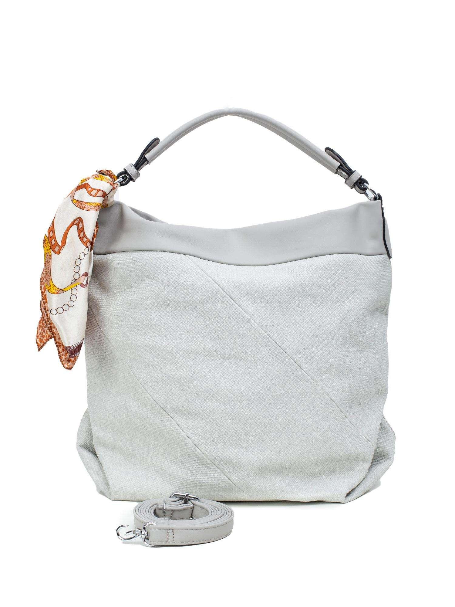 Šedá dámska taška s šatkou ONE SIZE