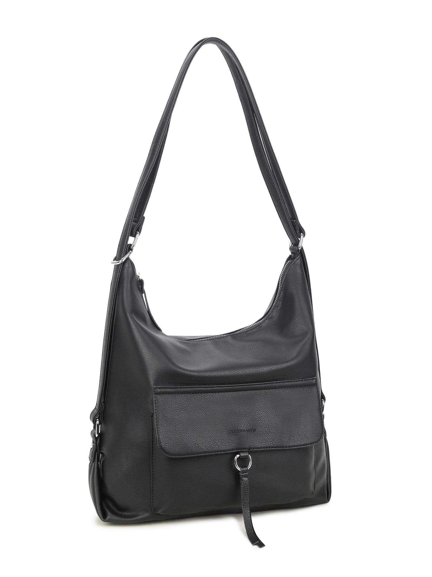 LUIGISANTO Čierna veľká dámska taška one size